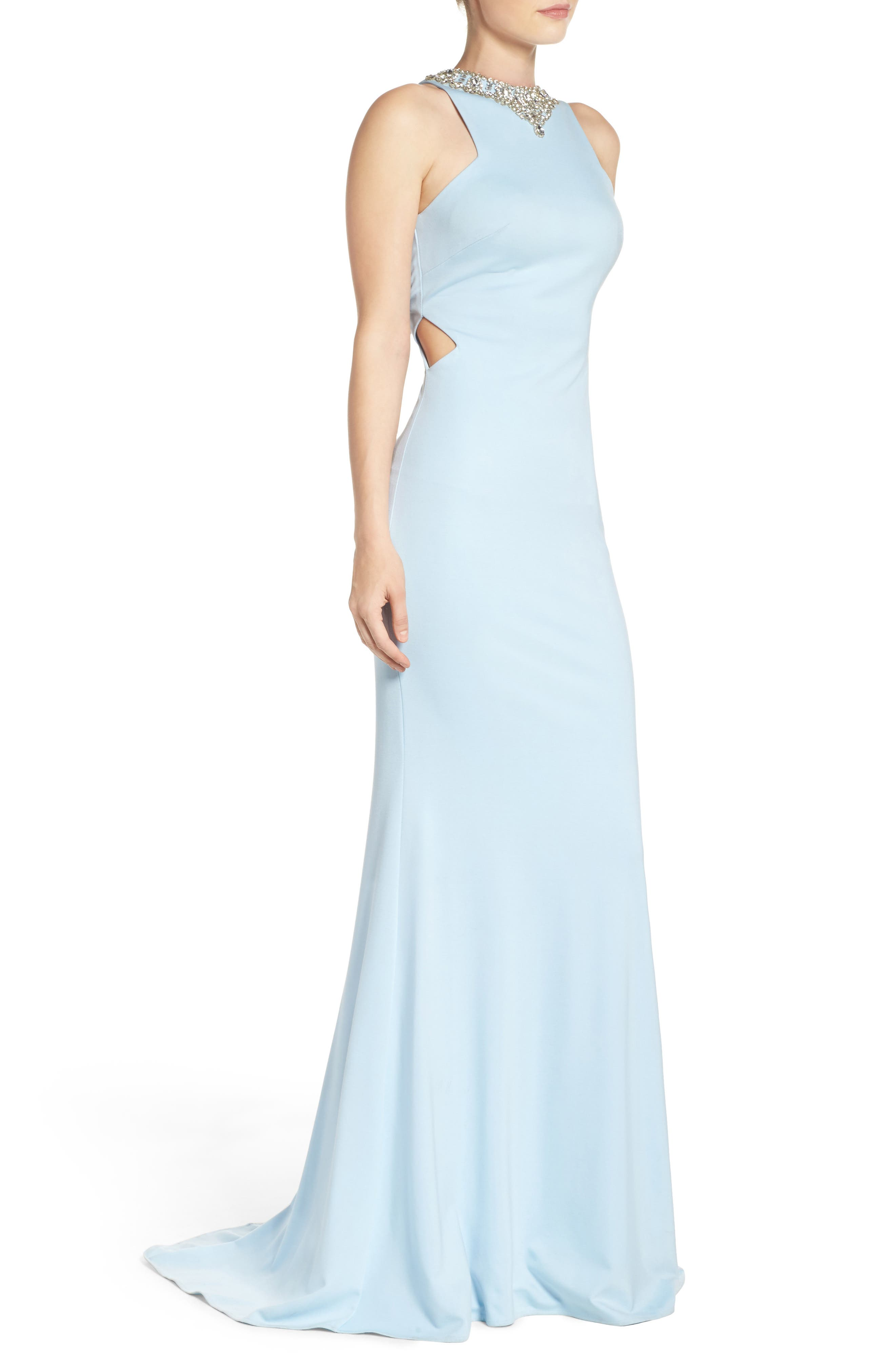 Alternate Image 3  - Mac Duggal Jewel Jersey Gown