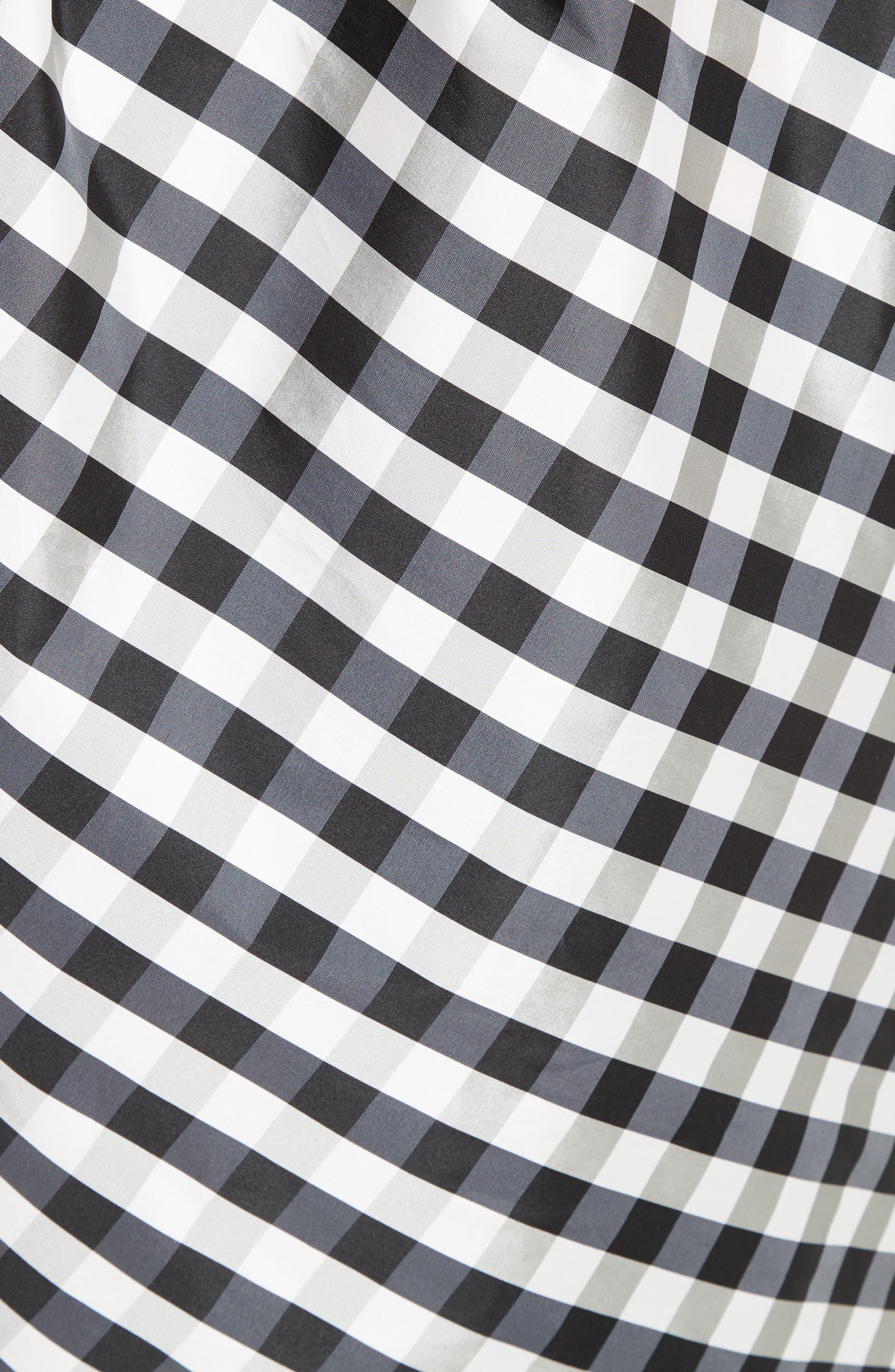 Alternate Image 3  - Carolina Herrera Bow Detail One-Shoulder Gingham Dress