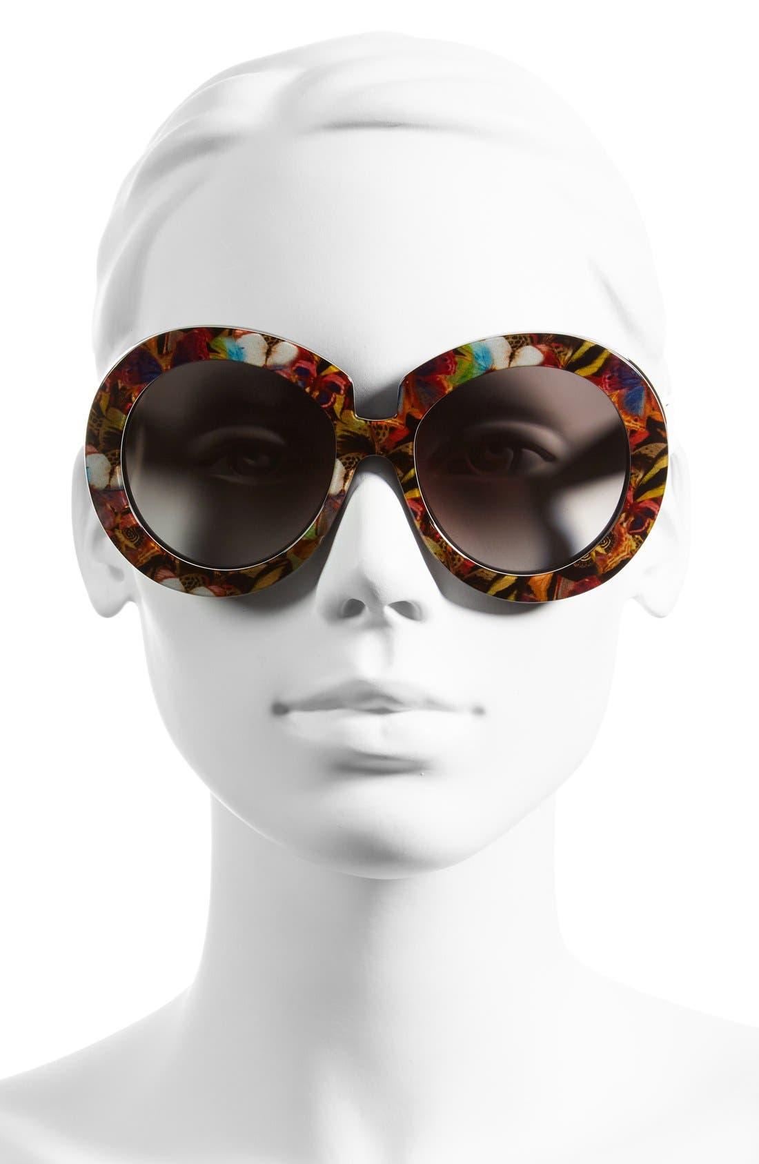 Alternate Image 2  - Valentino 54mm Oversized Gradient Sunglasses