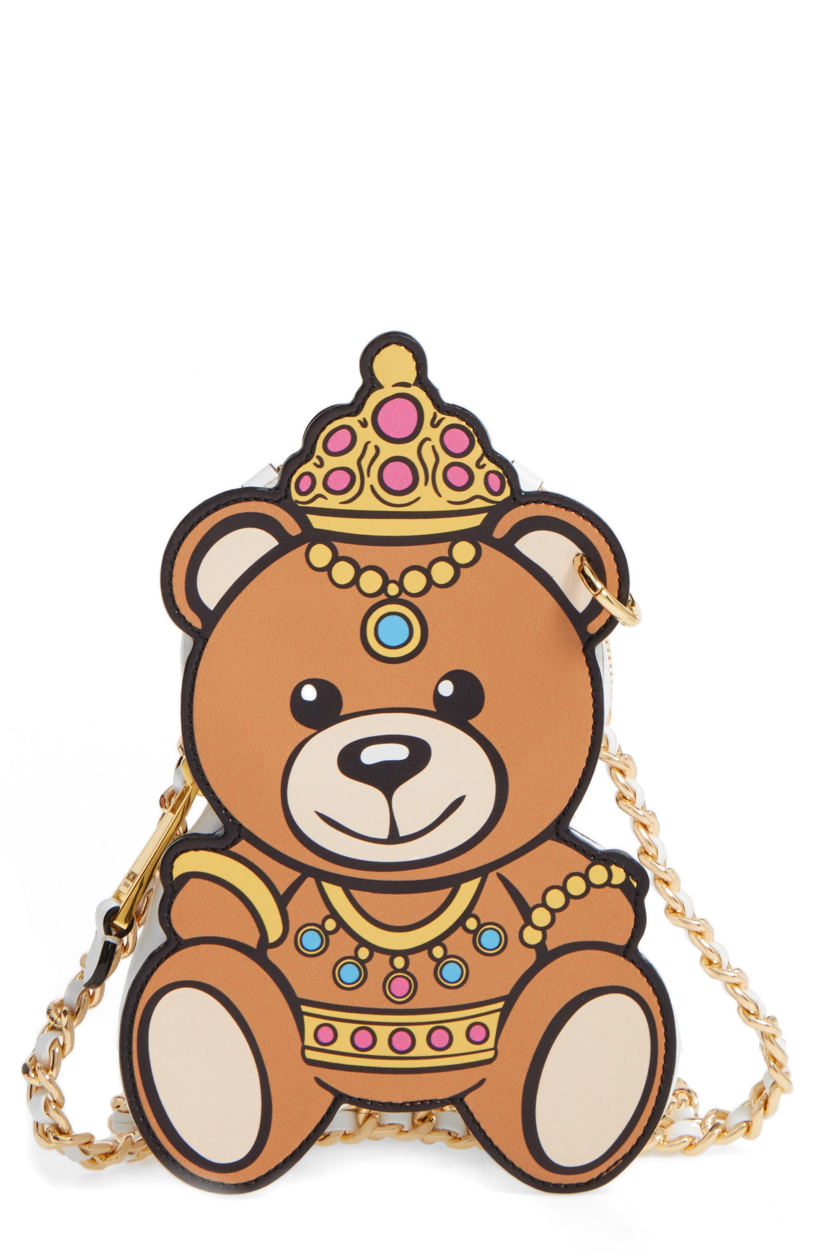 Moschino Bear Leather Crossbody Bag