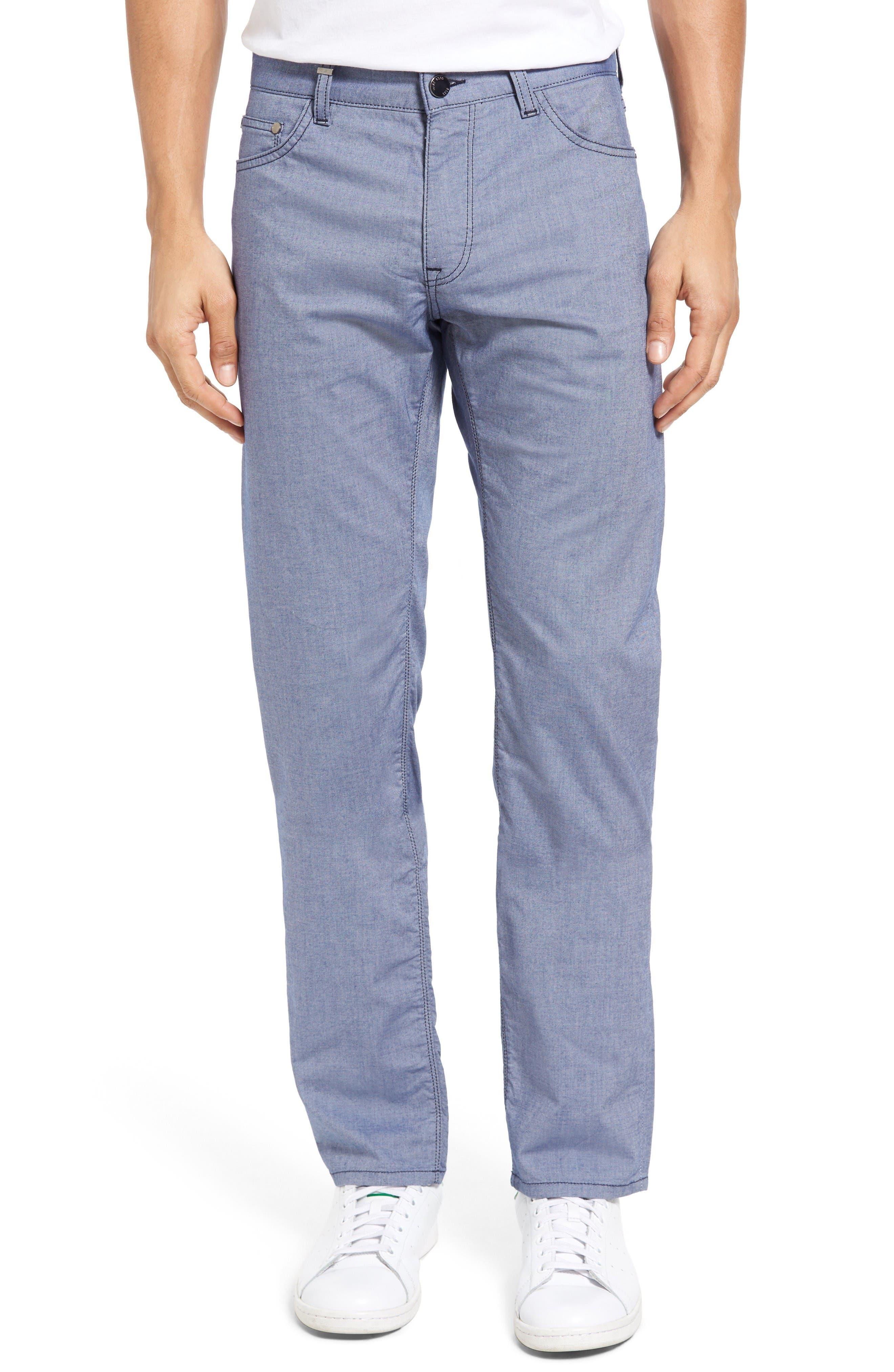 BOSS Maine Twill Five-Pocket Straight Leg Pants