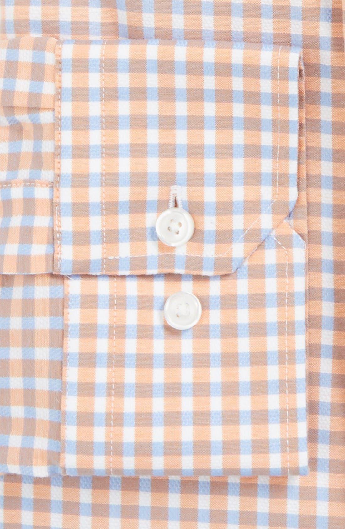 Alternate Image 2  - Calibrate Trim Fit Non-Iron Check Stretch Dress Shirt