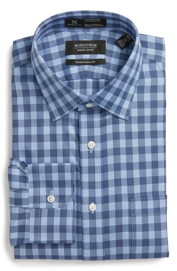 NORDSTROM MEN'S SHOP   Smartcare(TM) Traditional Fit Twill ...  From Dress Shirts Nordstrom
