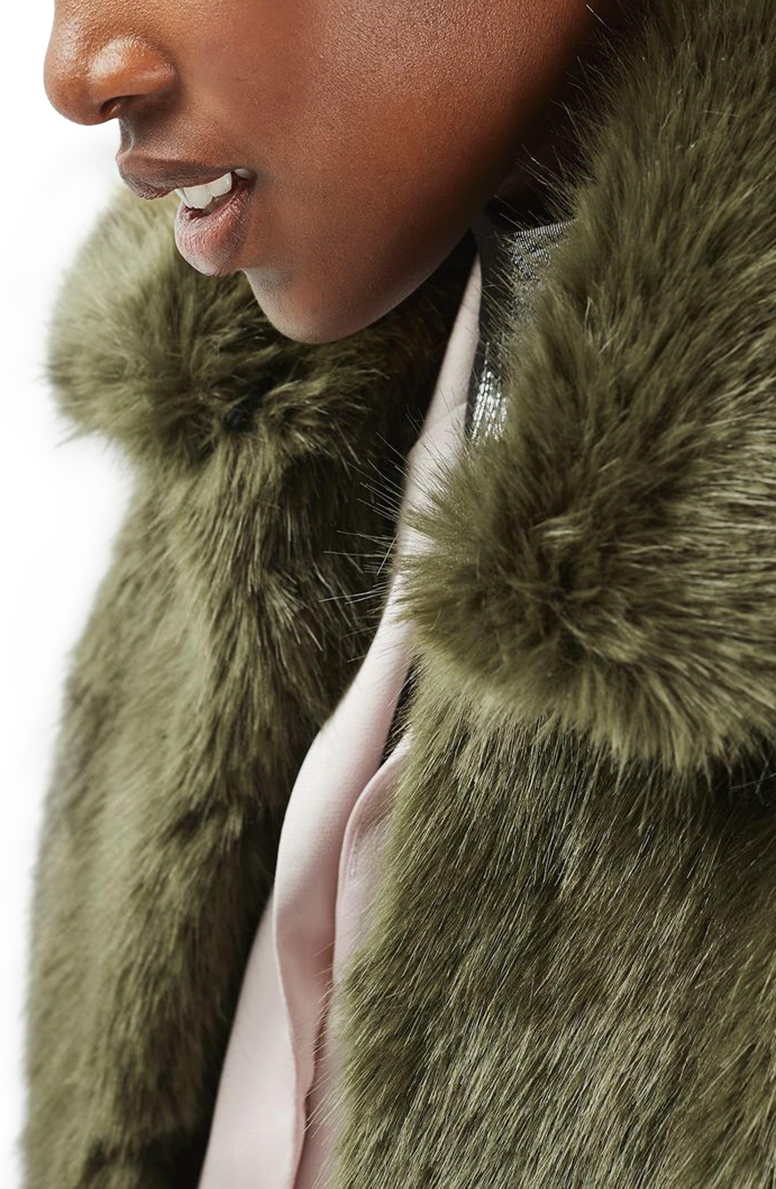 Alternate Image 5  - Topshop Claire Faux Fur Coat
