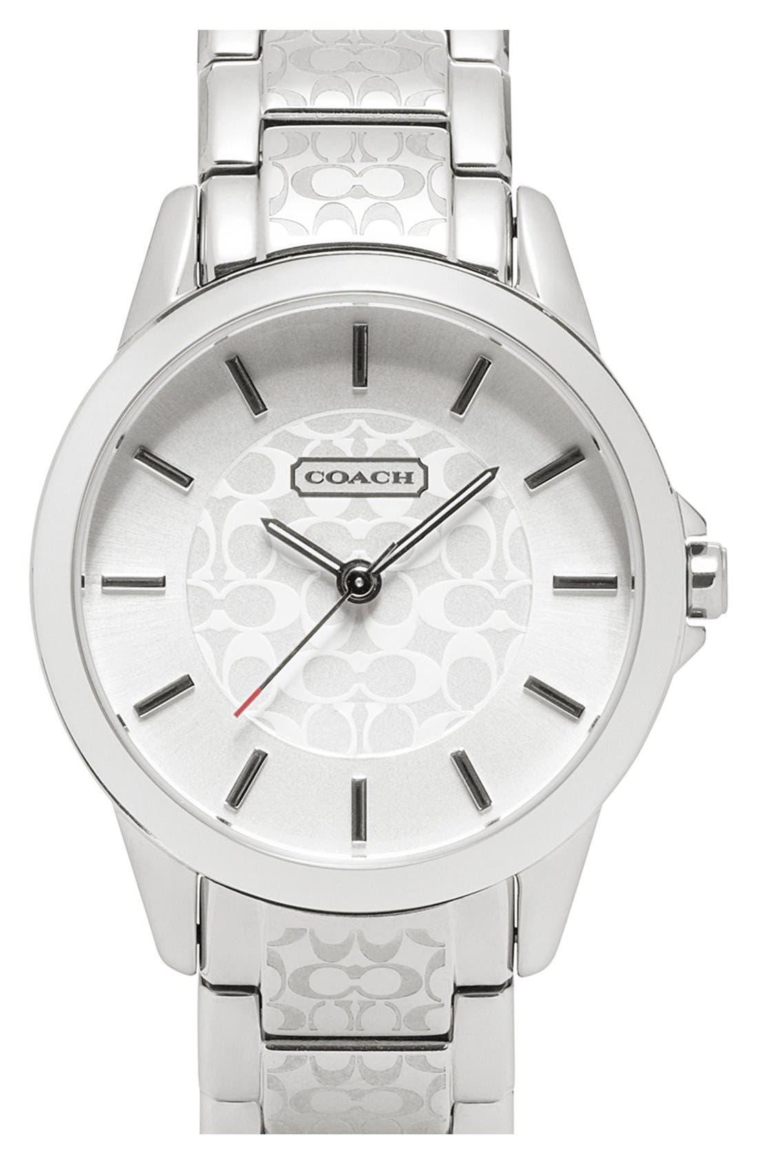 Main Image - COACH 'Classic Signature' Bracelet Watch, 34mm