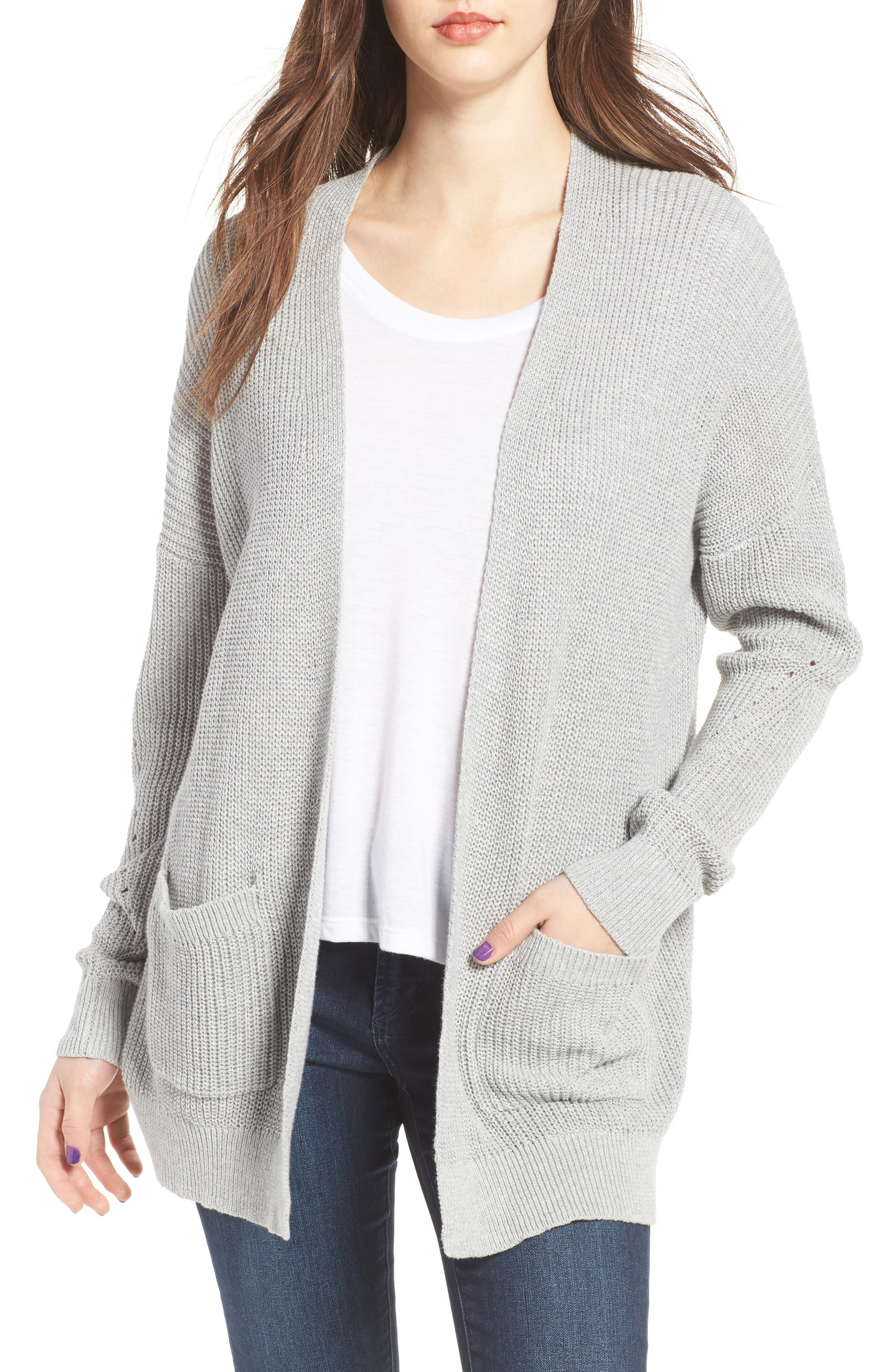 Alternate Image 1 Selected - BP. Open Front Cotton Cardigan