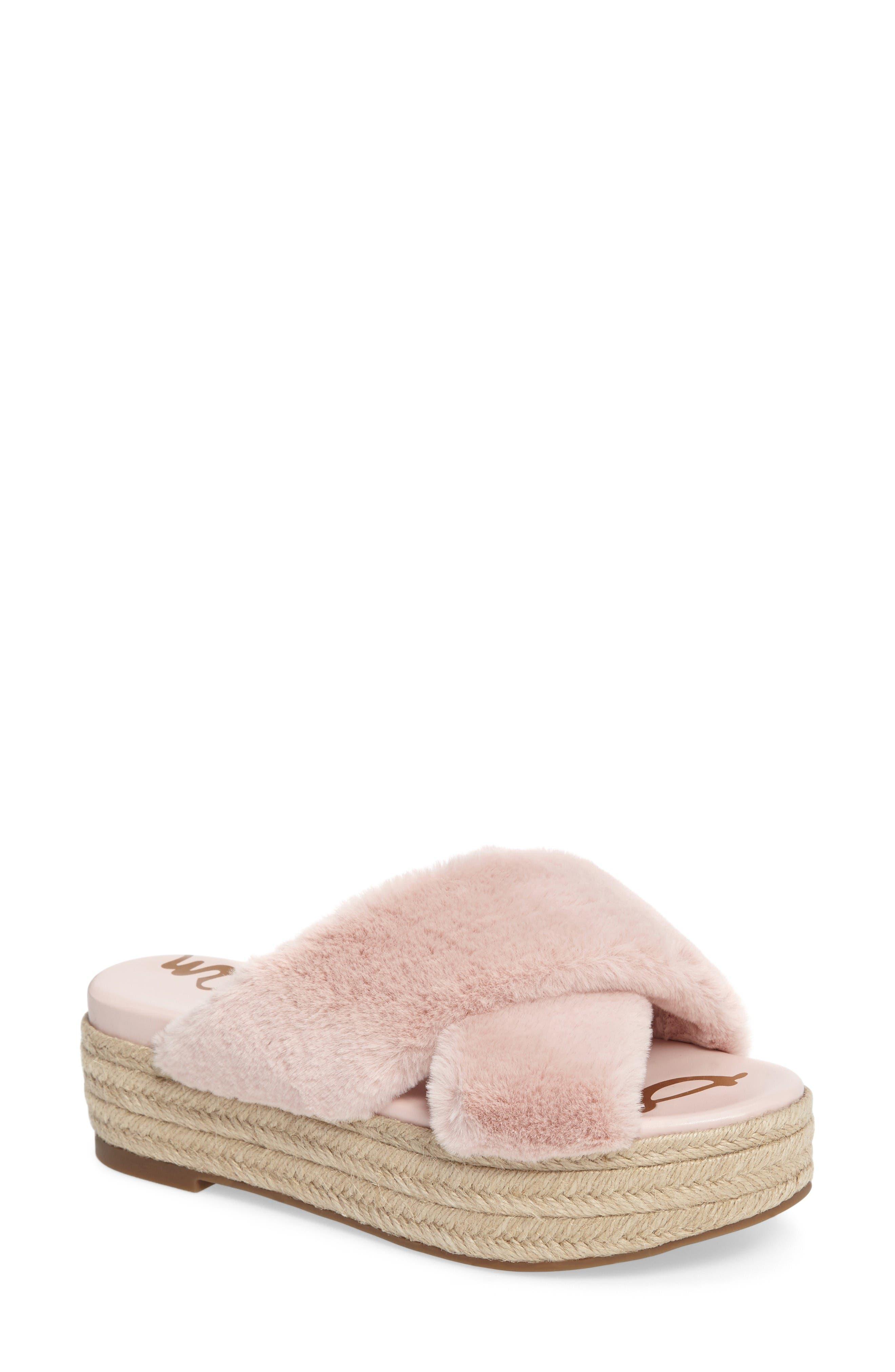 Sam Edelman Zia Faux Fur Platform Sandal (Women)