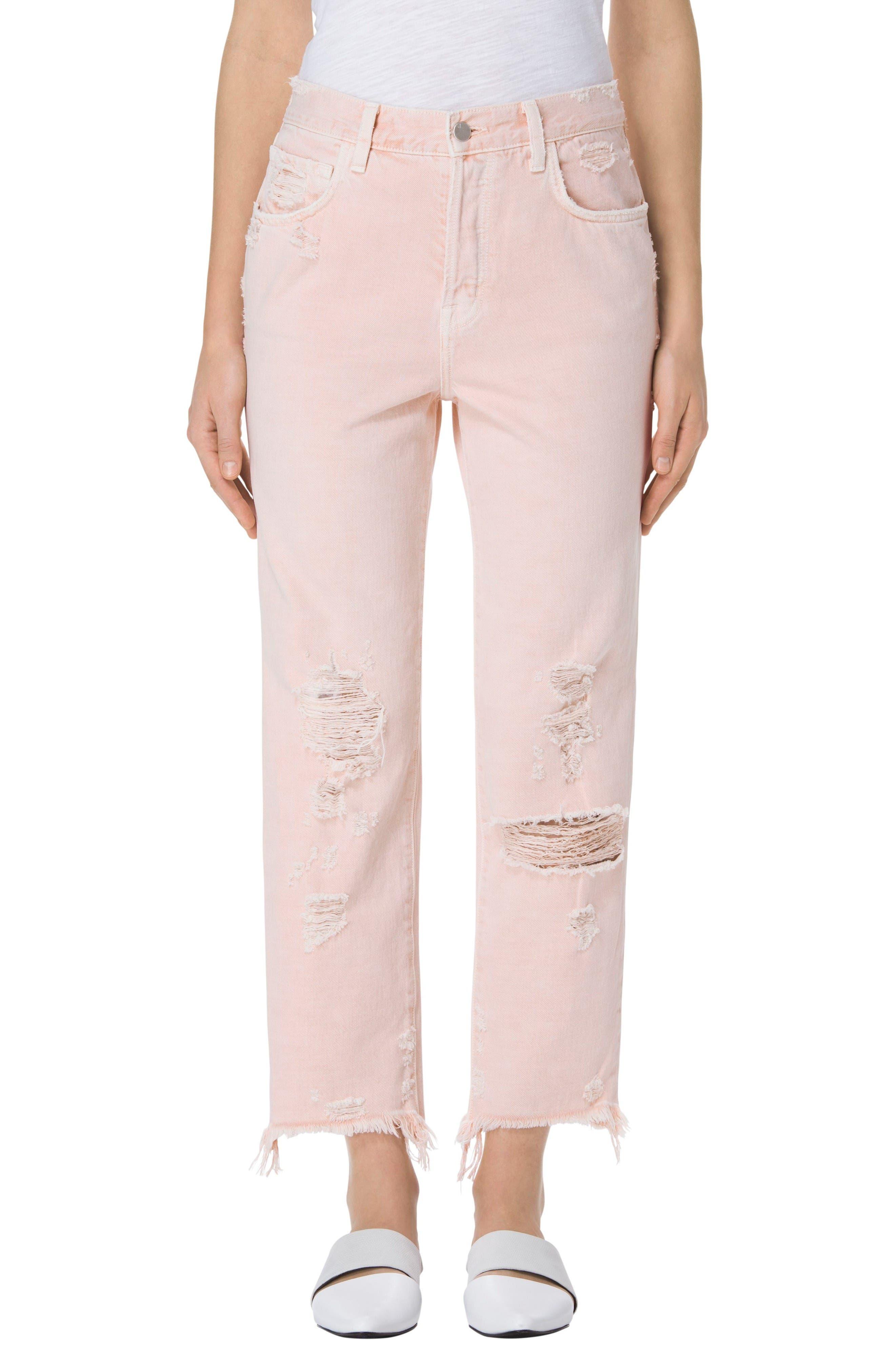 J Brand Ivy High Waist Crop Straight Leg Jeans