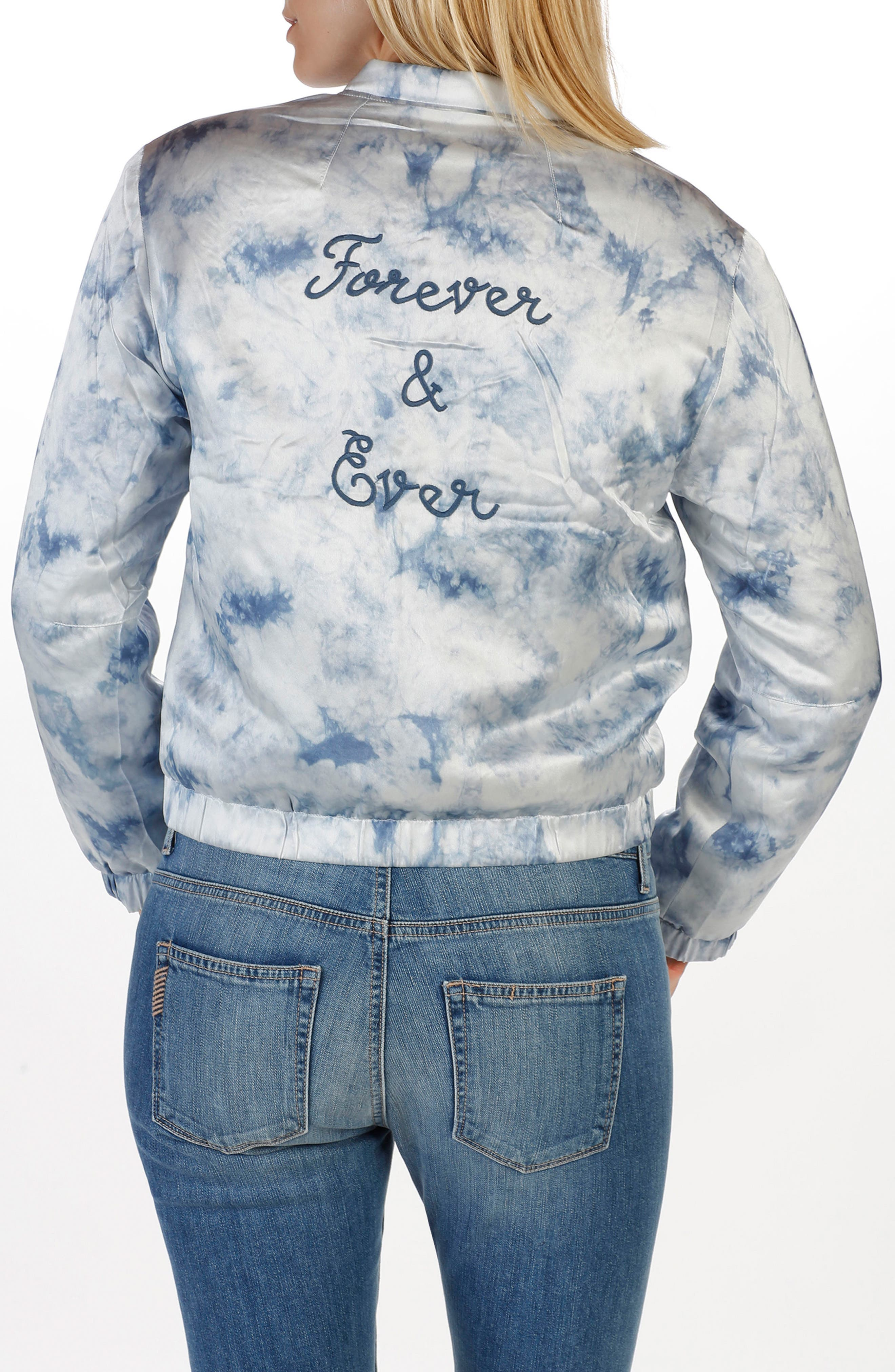 Alternate Image 3  - Rosie HW x PAIGE Flo Silk Bomber Jacket