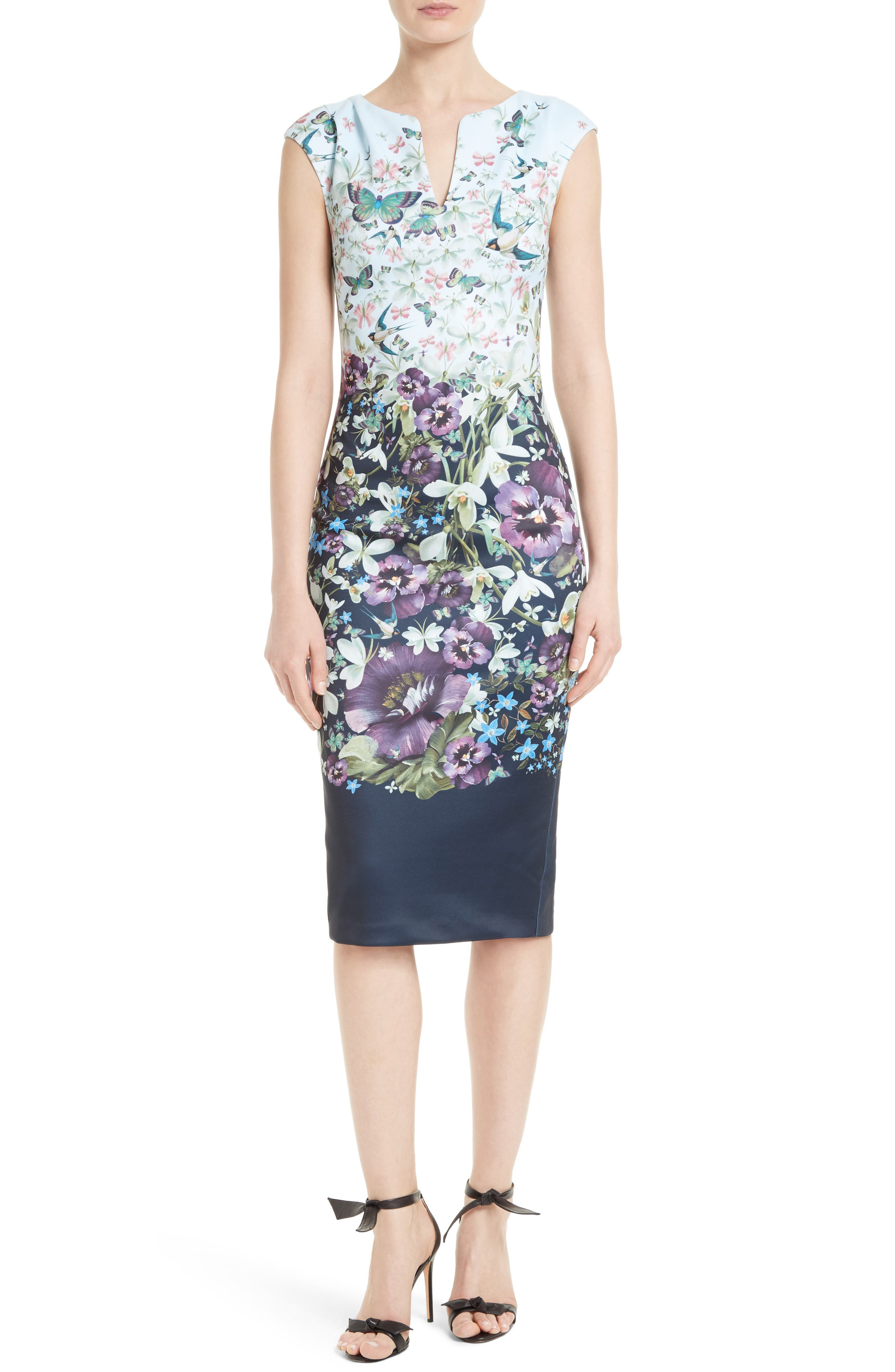 Ted Baker London Tiha Floral Print Sheath Dress
