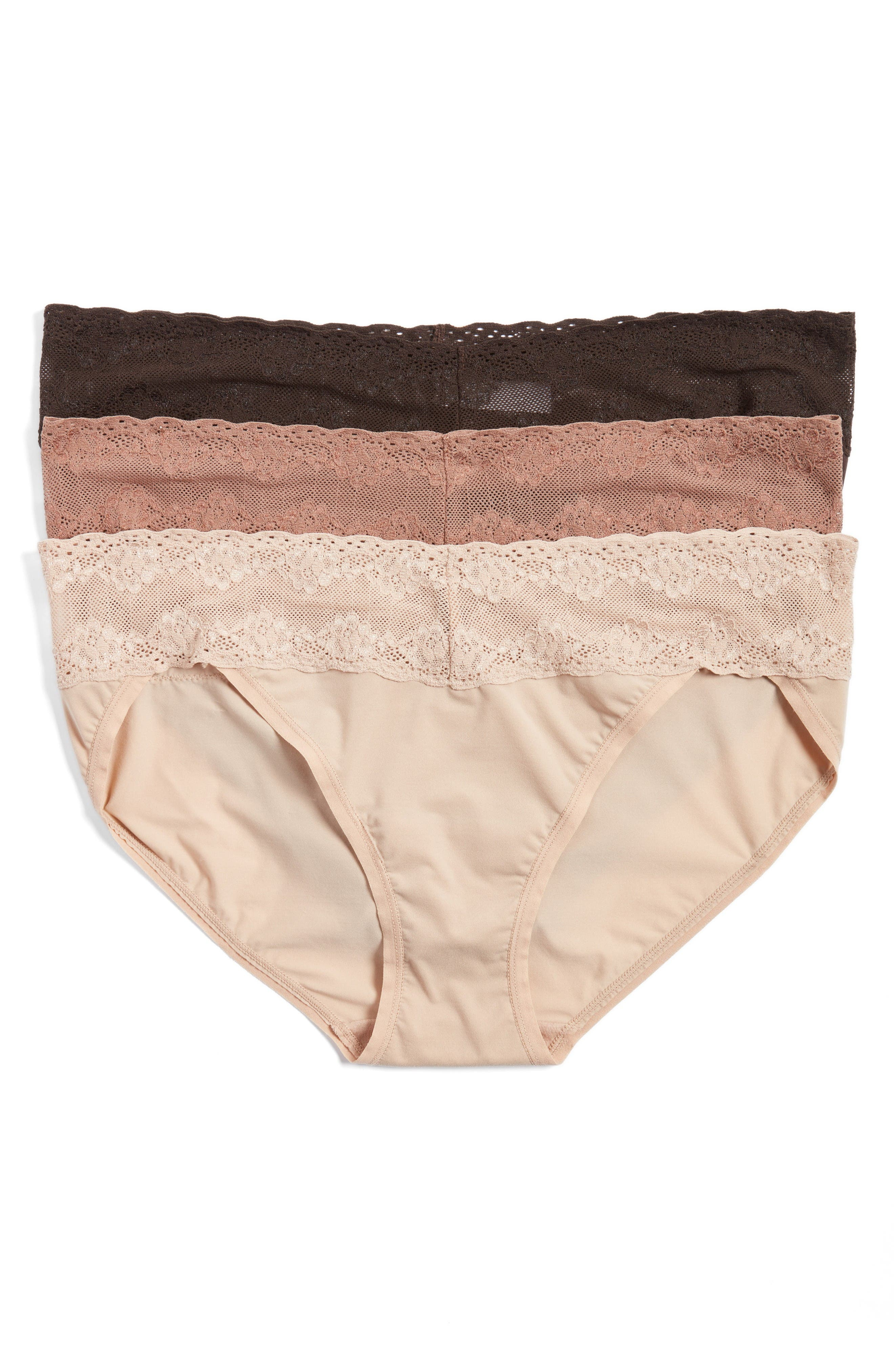 Natori 'Bliss Perfection' Bikini Briefs (3-Pack)