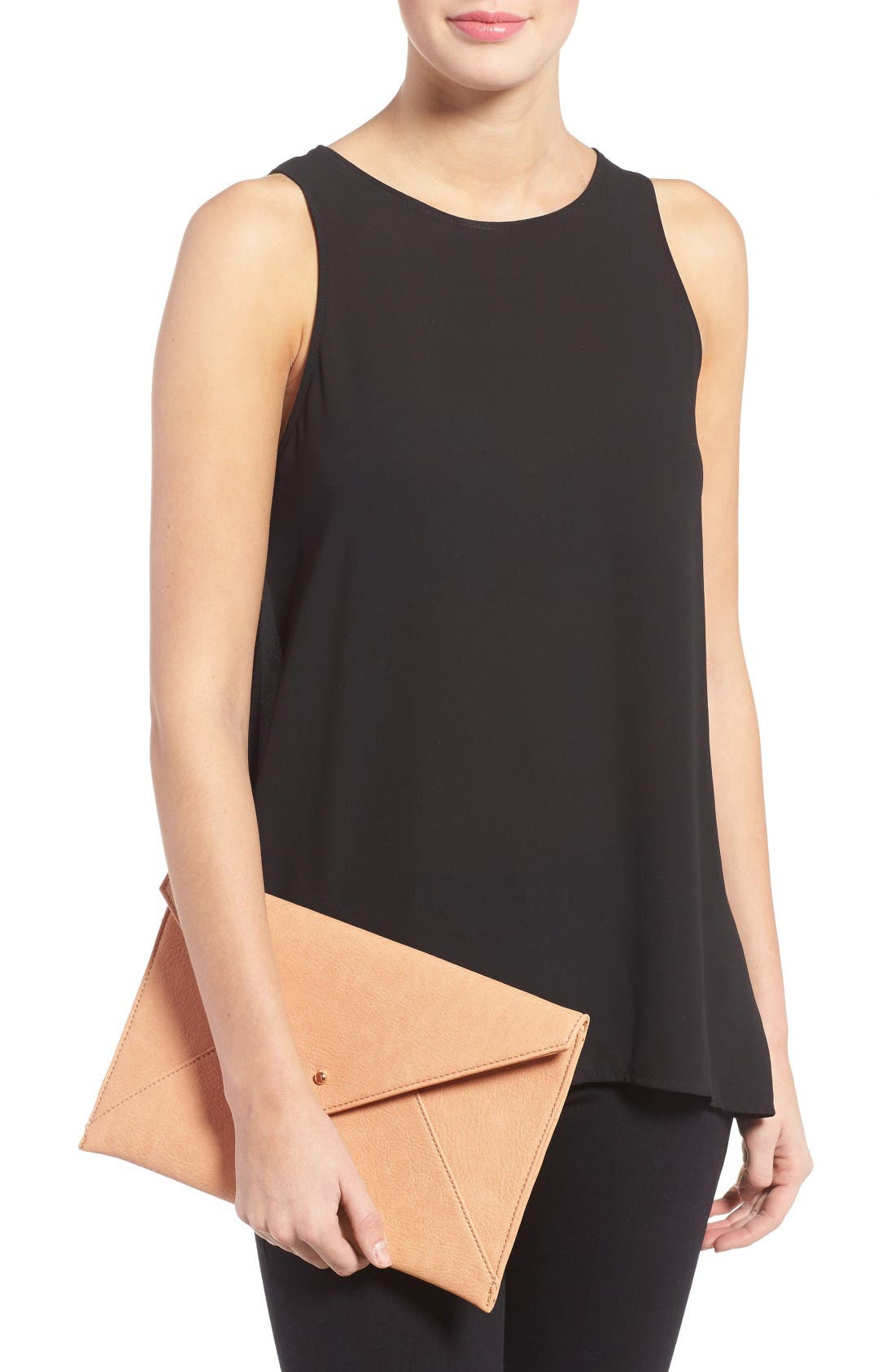 Alternate Image 2  - BP. Faux Leather Envelope Clutch
