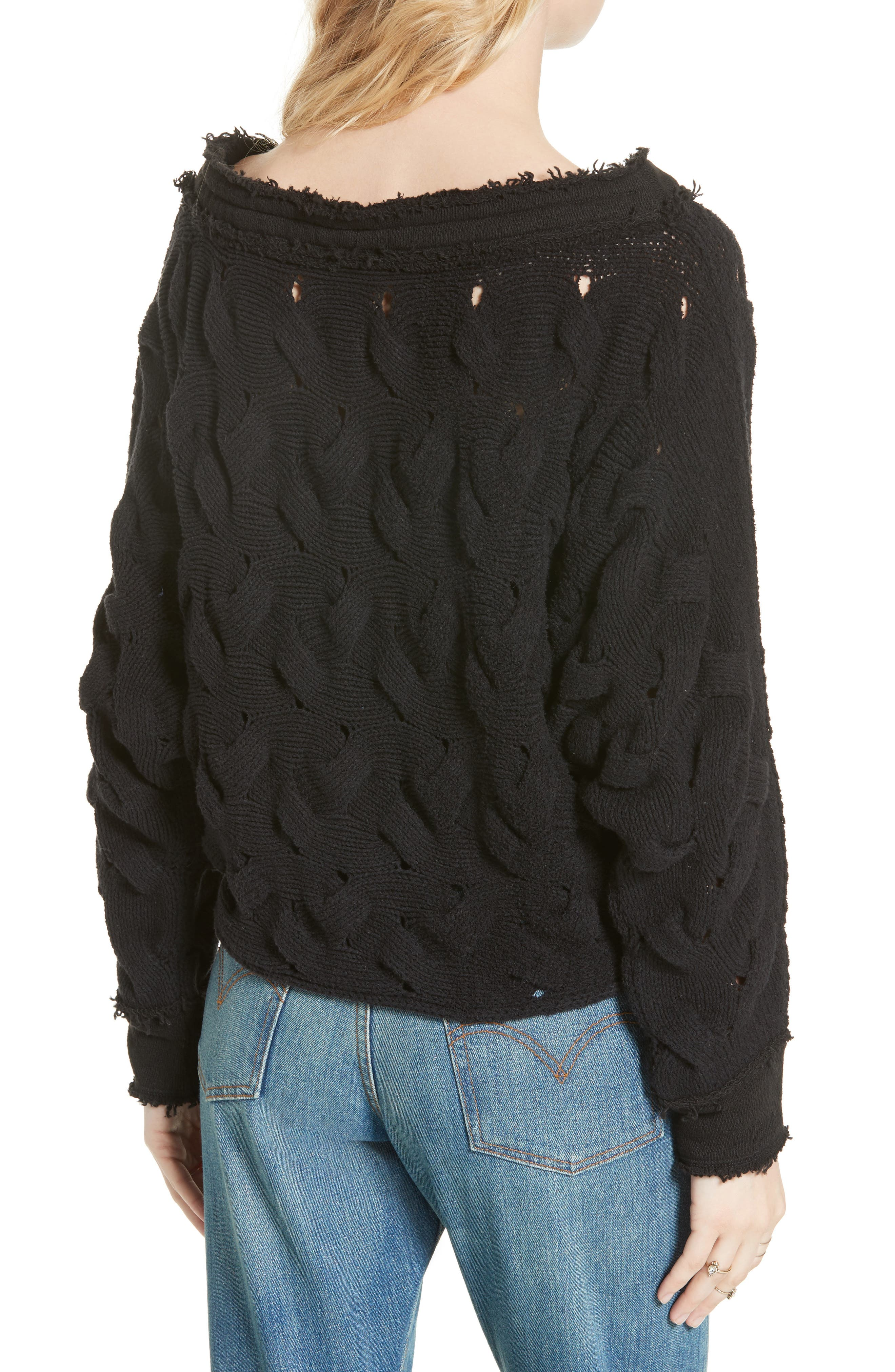 Alternate Image 2  - Free People Desert Sands Cable Pullover