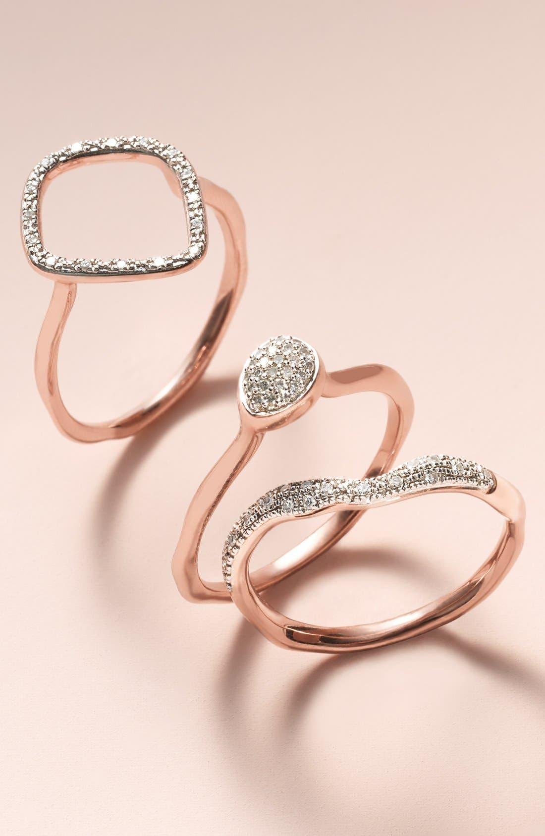 Alternate Image 6  - Monica Vinader 'Siren' Small Pavé Diamond Stacking Ring