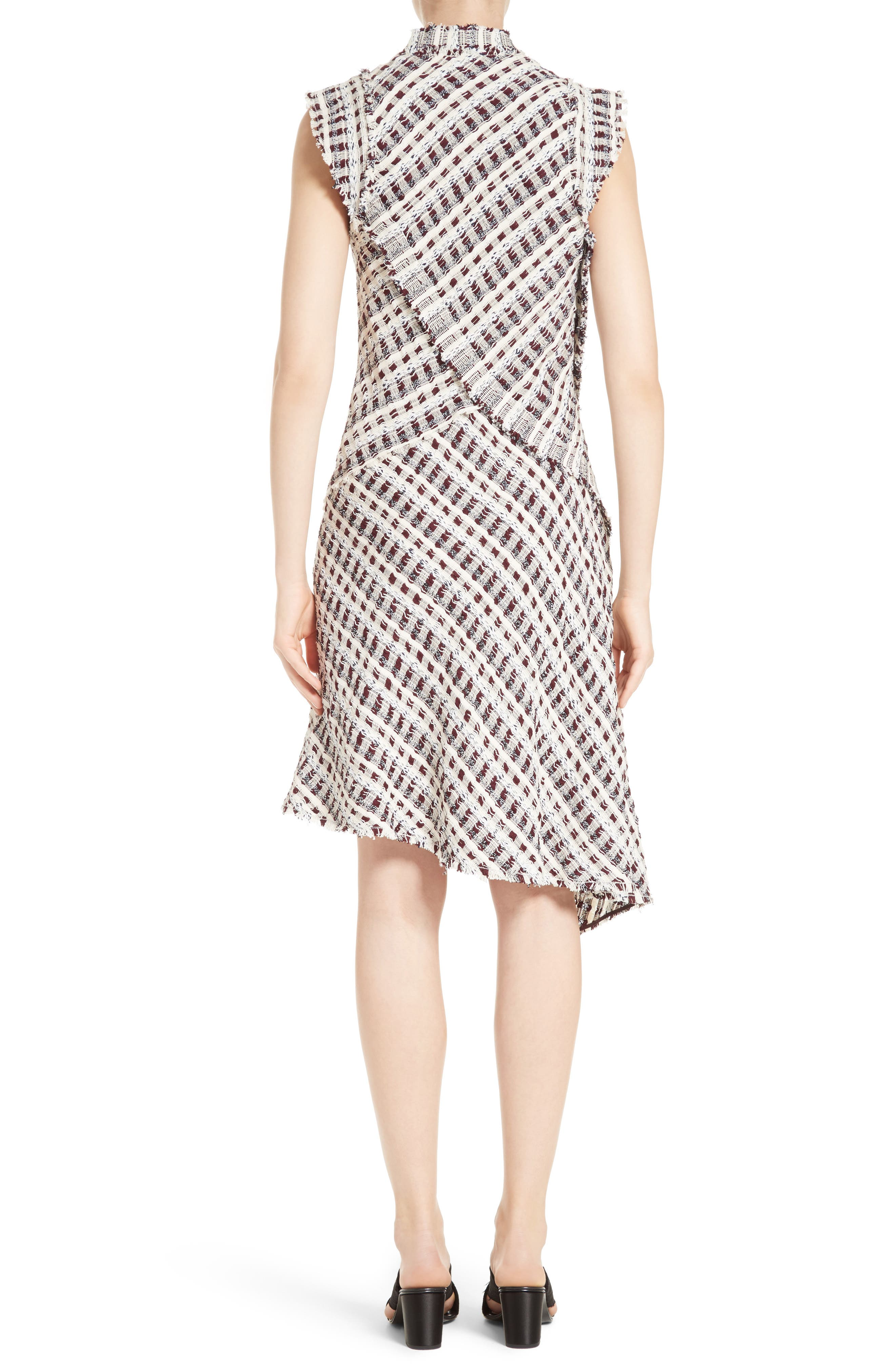 Alternate Image 2  - Proenza Schouler Asymmetrical Tweed Dress