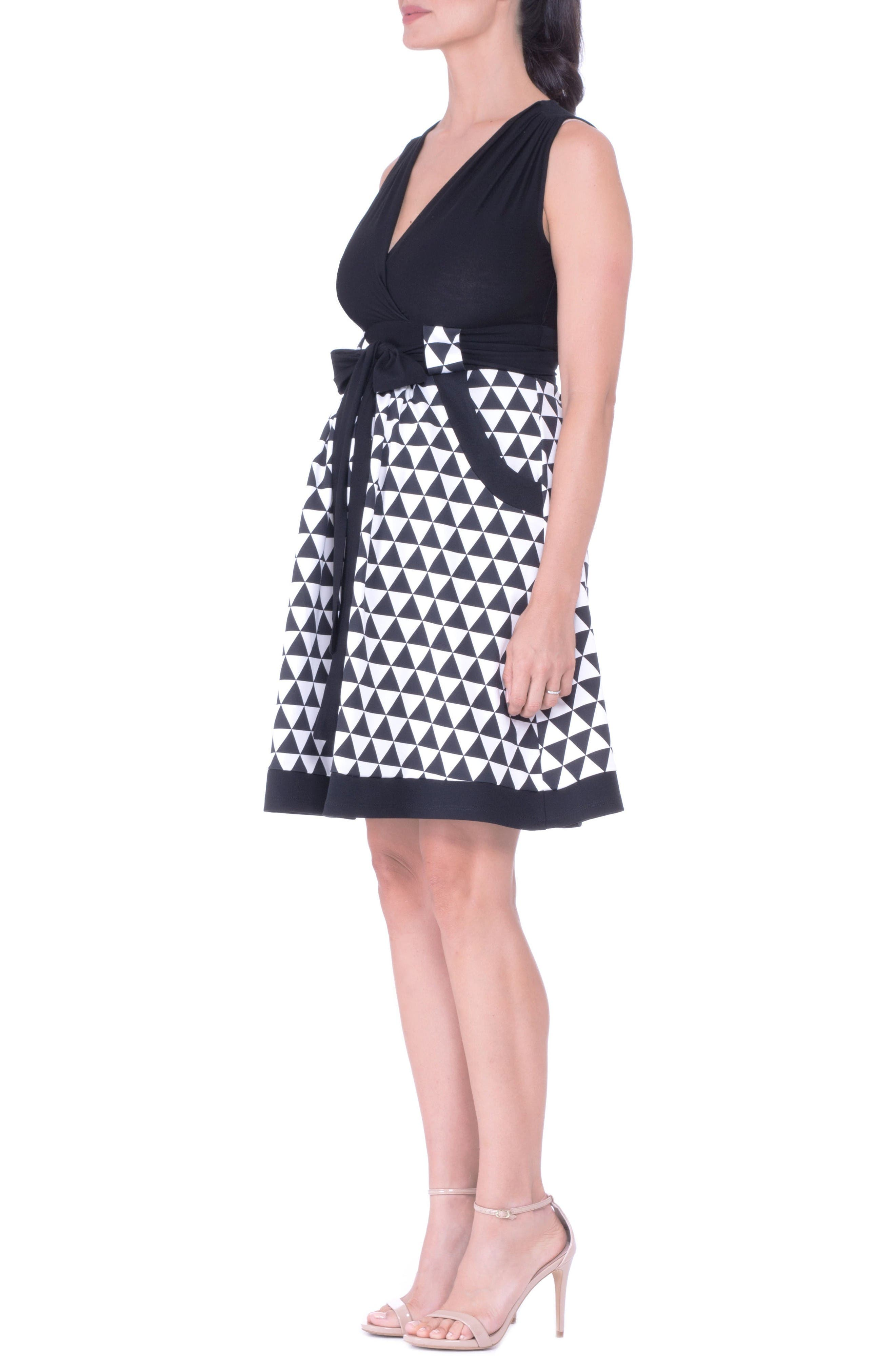 Olian Diamond A-Line Maternity Dress with Surplice Bodice