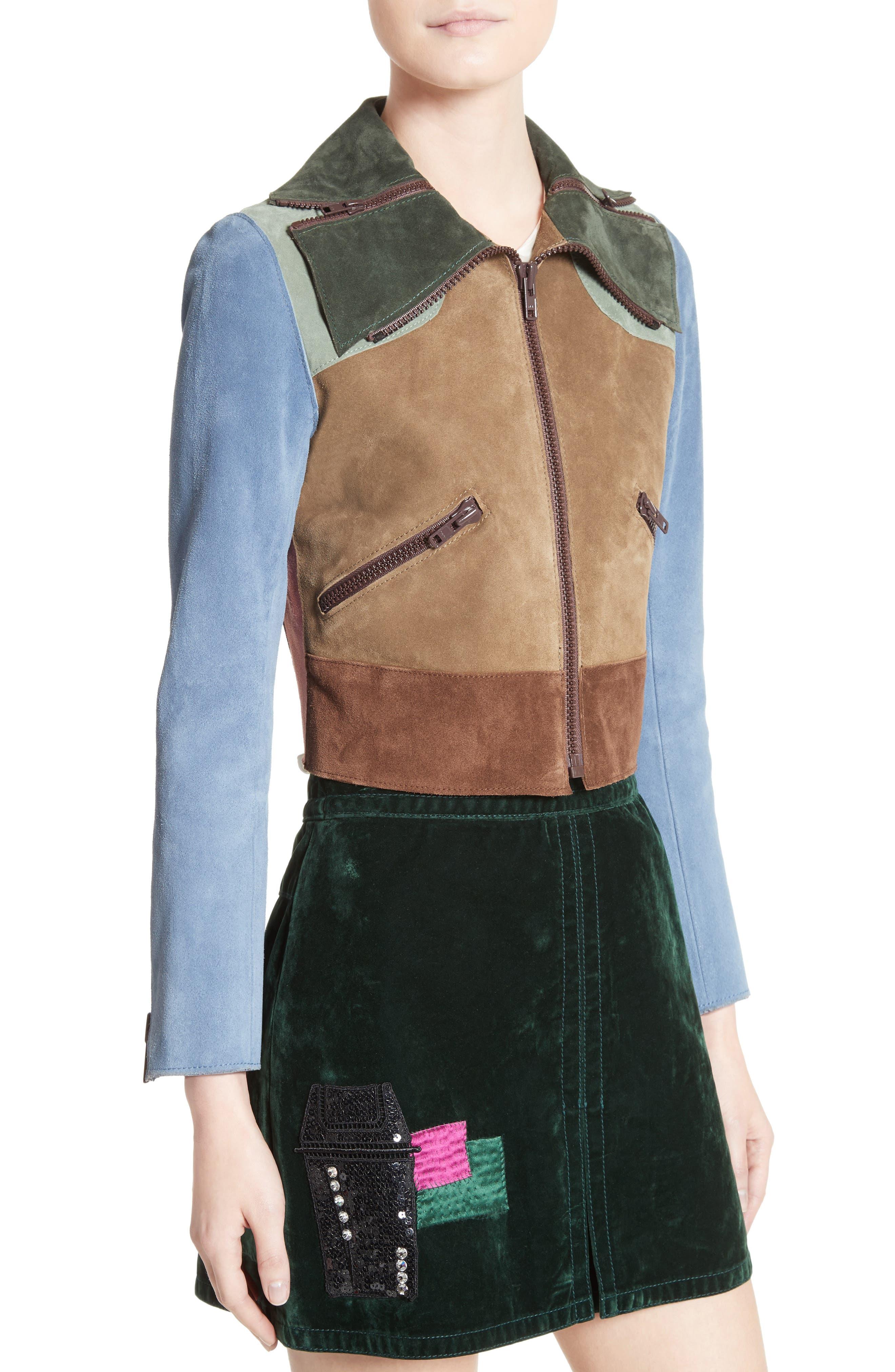 Alternate Image 6  - MARC JACOBS Suede Patchwork Jacket