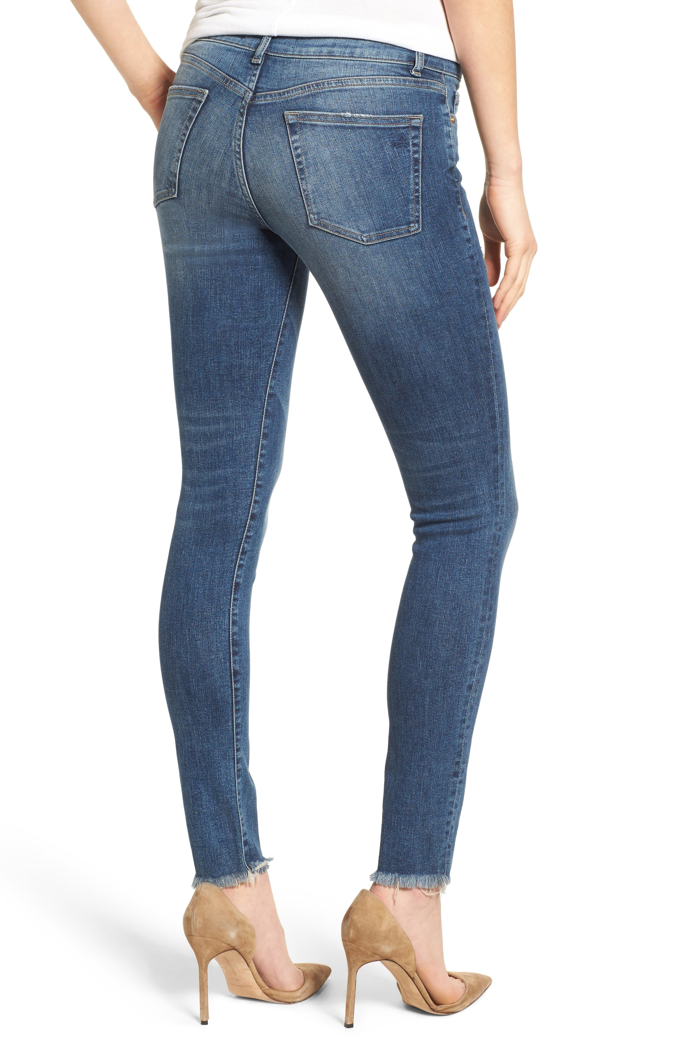 Alternate Image 2  - DL1961 Florence Instasculpt Skinny Jeans (Wicked)