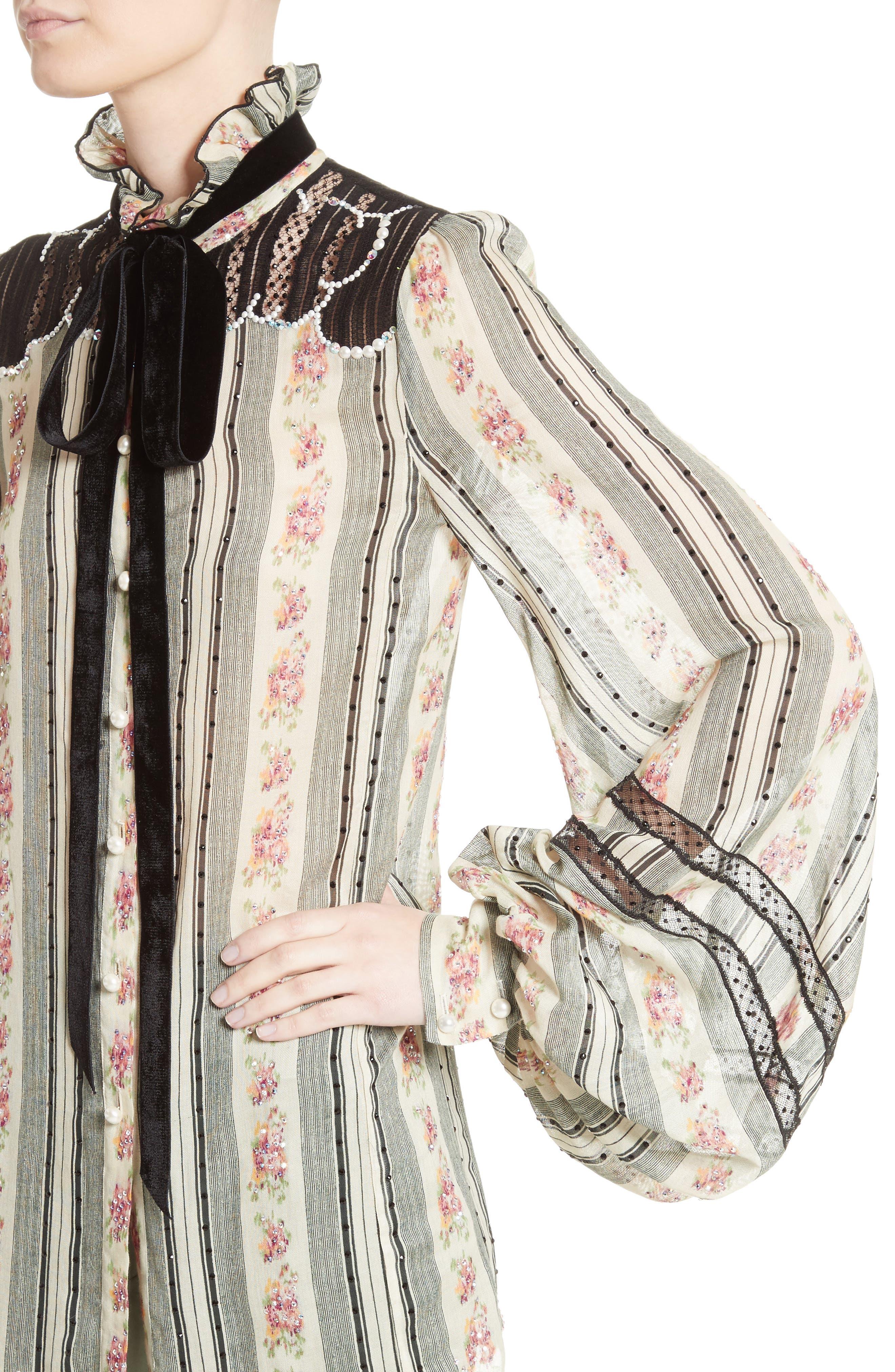 Alternate Image 6  - MARC JACOBS Embellished Brocade Print Blouse