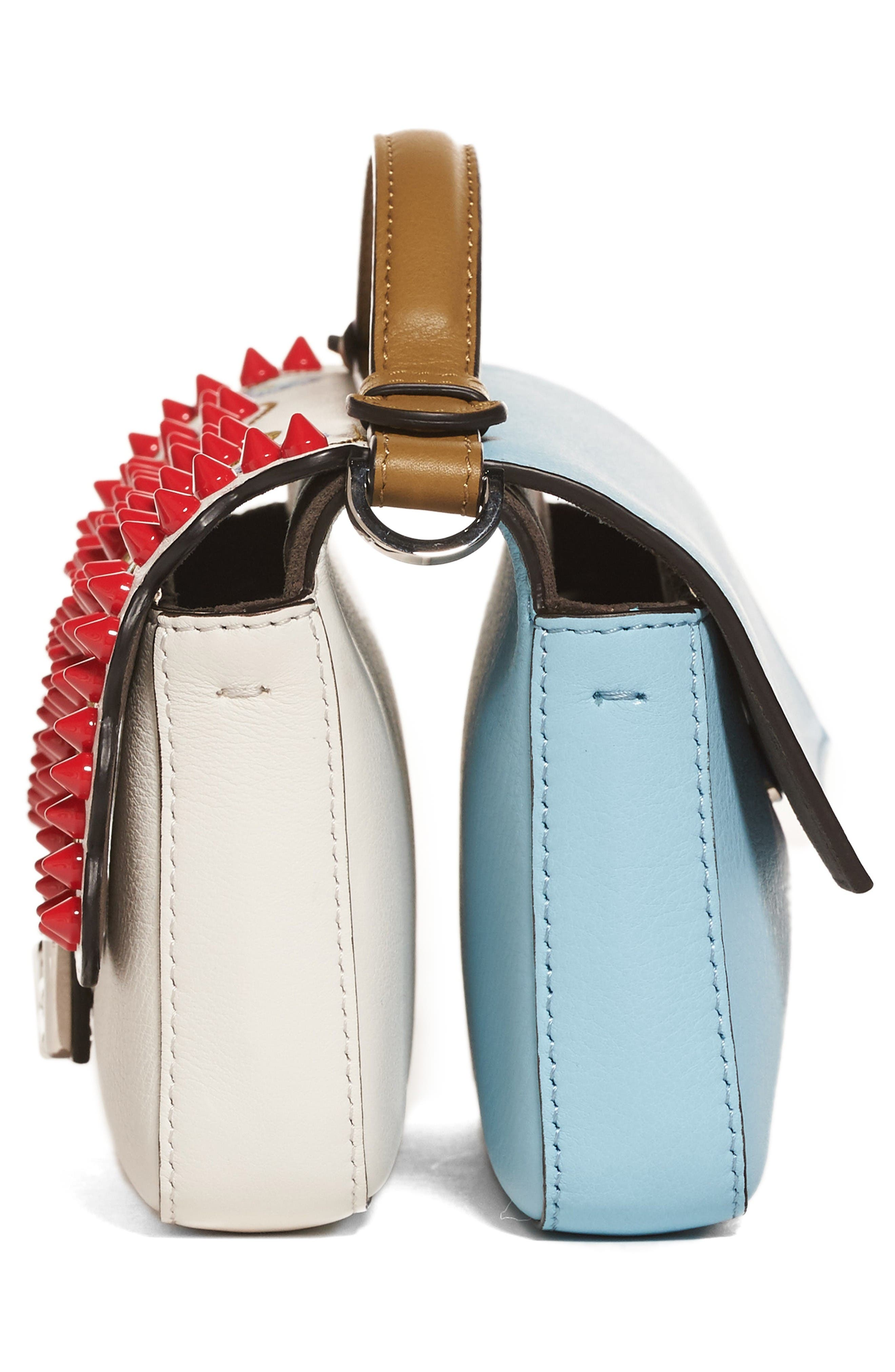 Alternate Image 4  - Fendi Double Micro Studded Leather Baguette