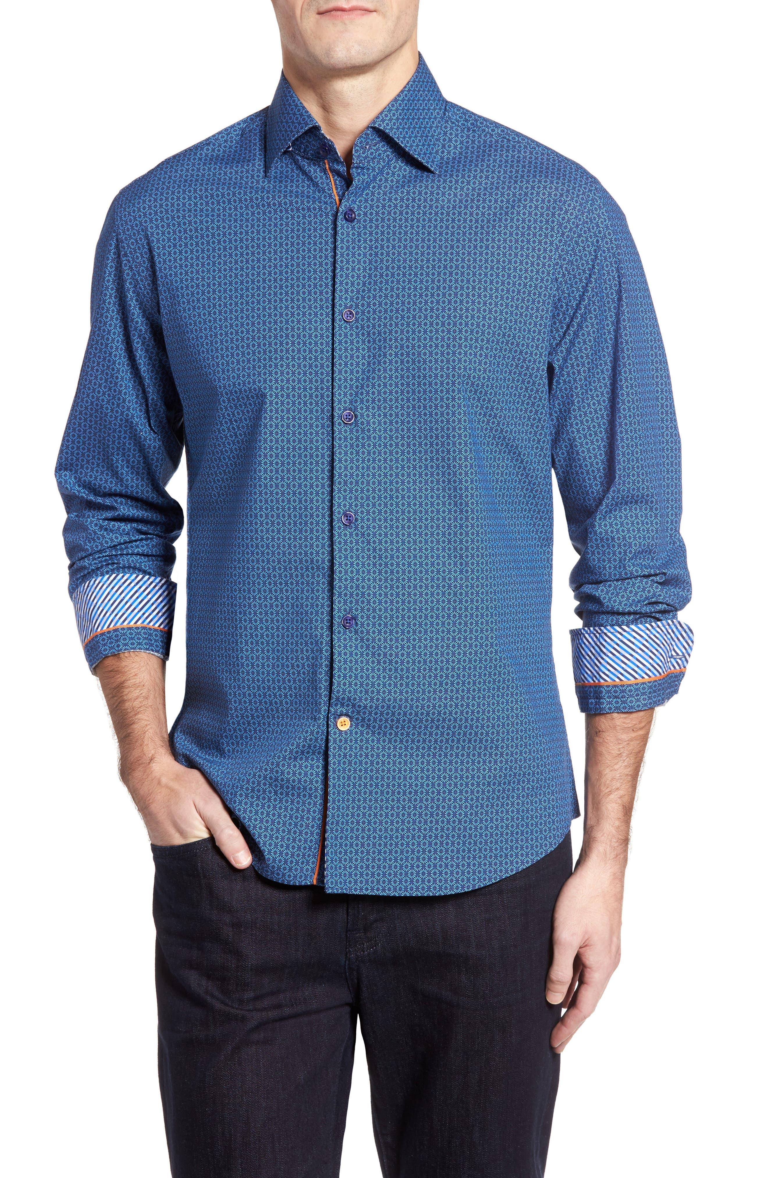 STONE ROSE Geometric Sport Shirt