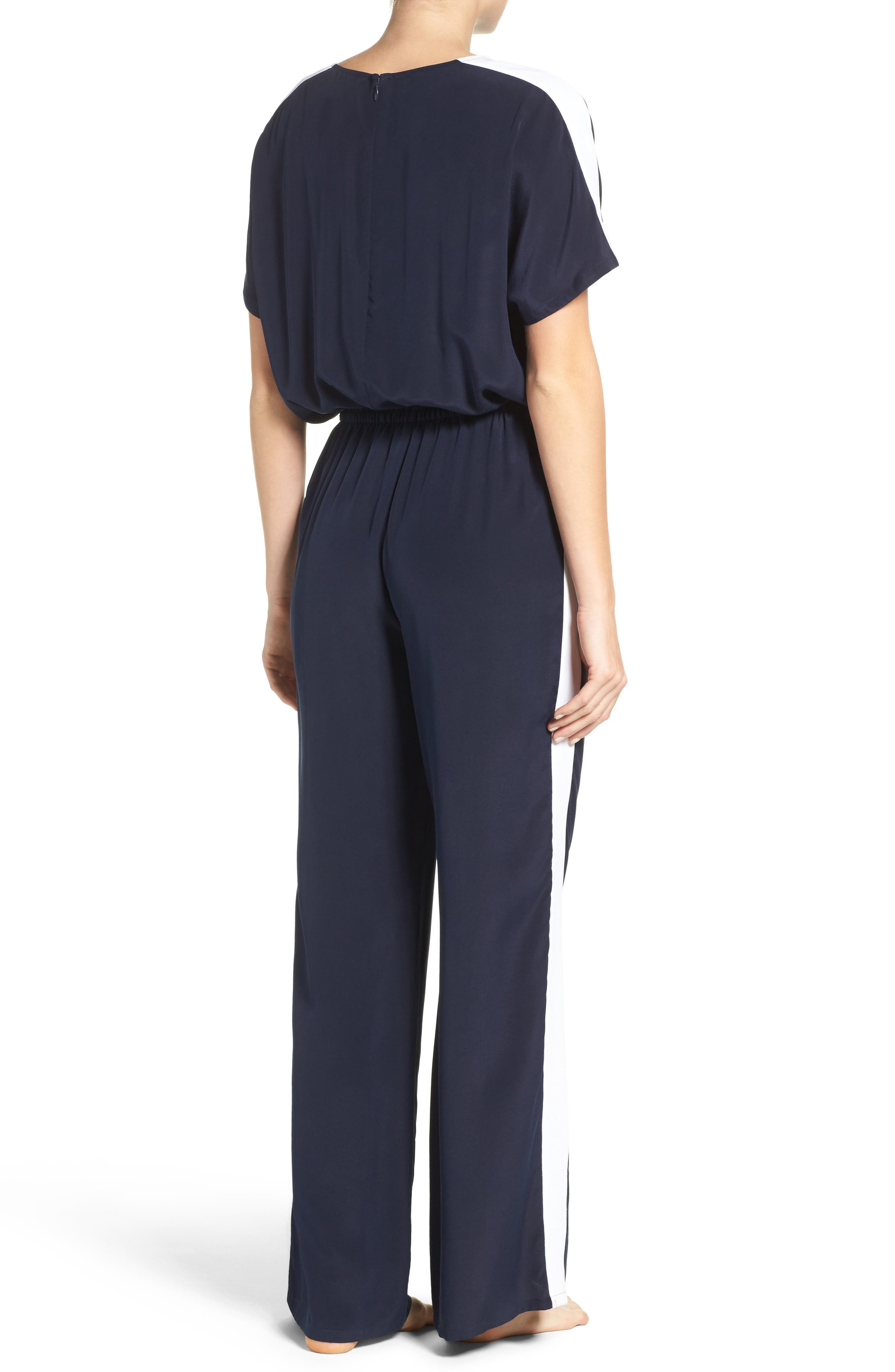 Alternate Image 2  - Tory Burch Silk Cover-Up Jumpsuit
