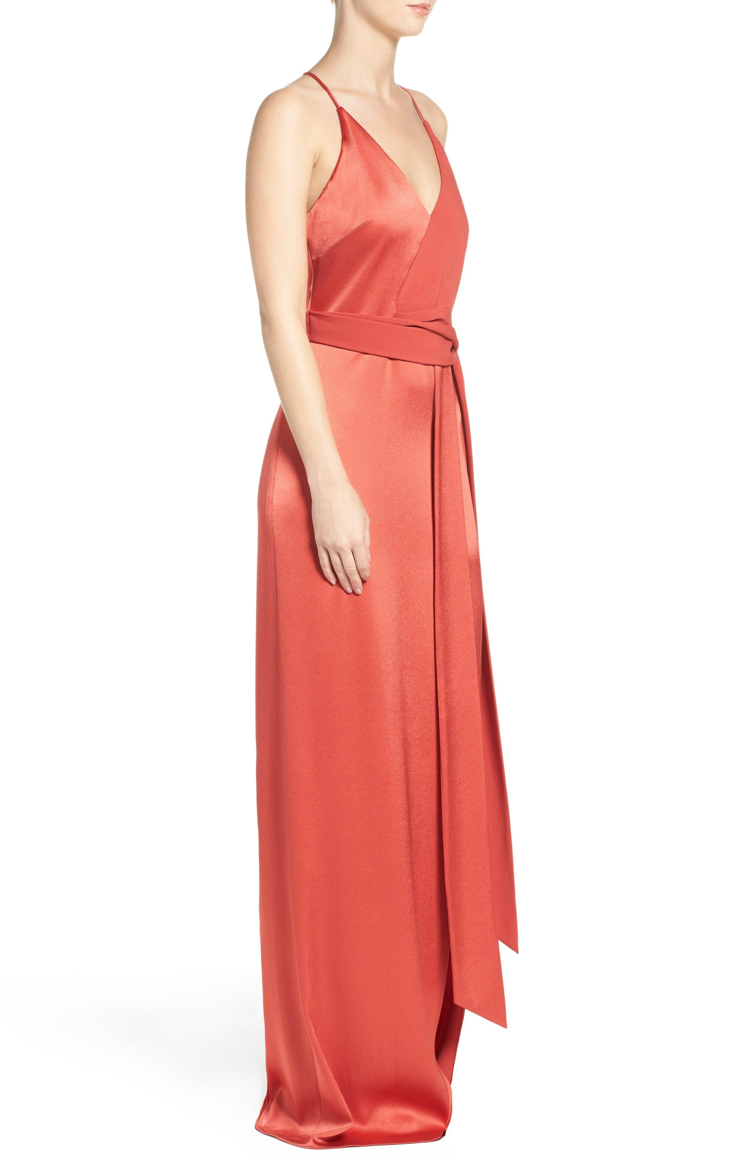 Alternate Image 3  - Halston Heritage Satin Gown