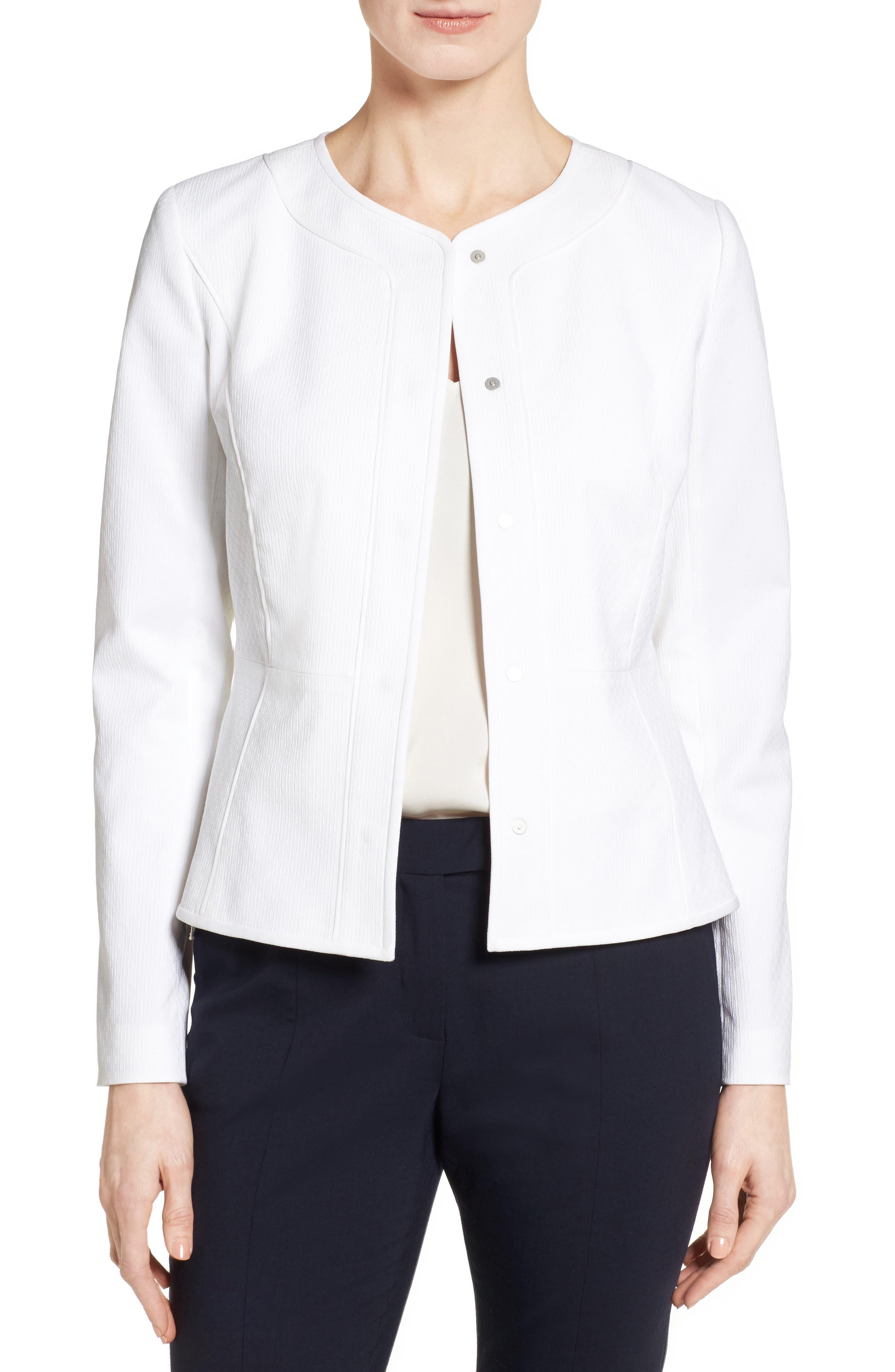 Classiques Entier® Texture Woven Crop Jacket
