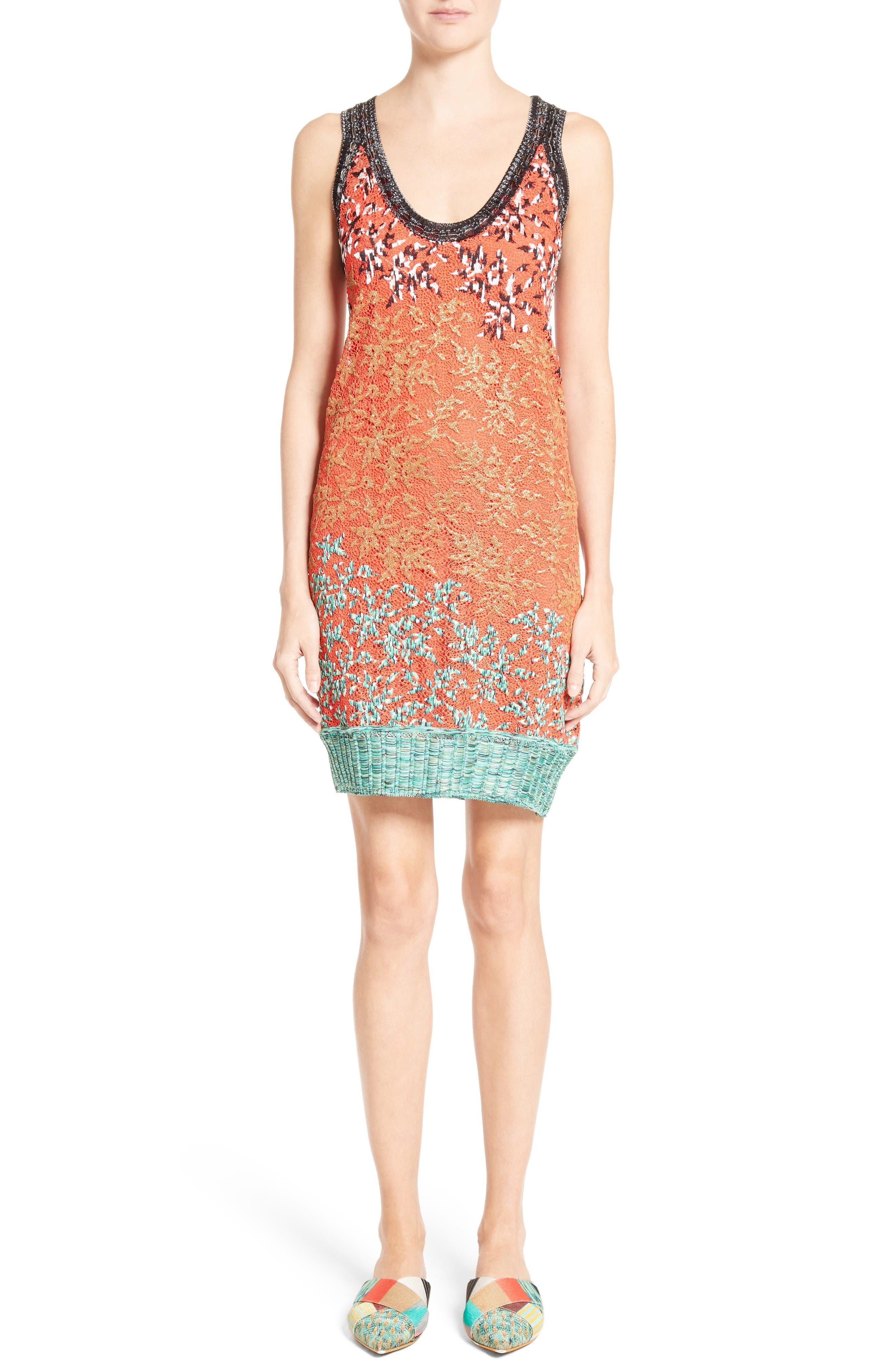 MISSONI Embellished Lace Slipdress