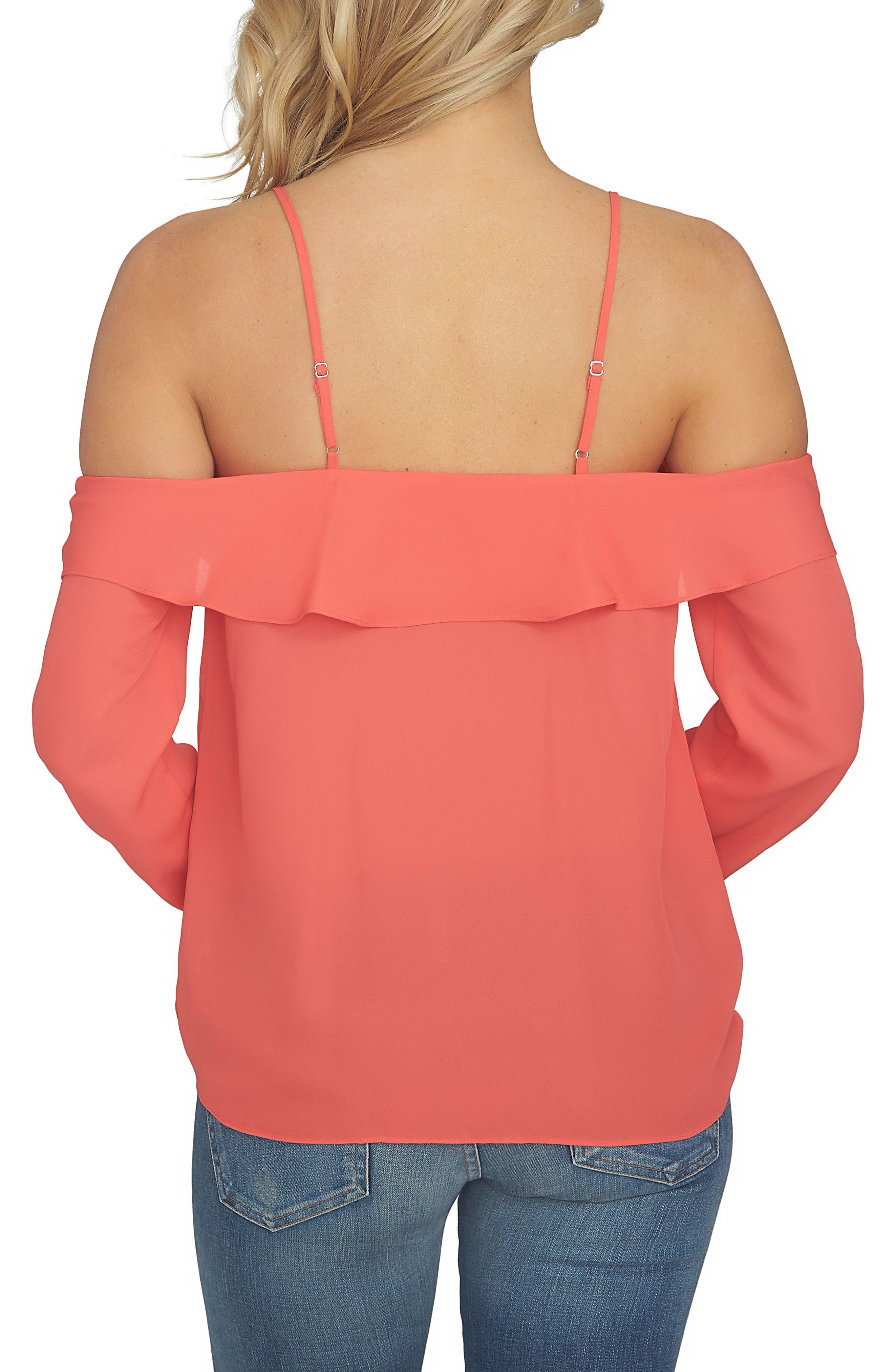 Alternate Image 2  - 1.STATE Cold Shoulder Blouse