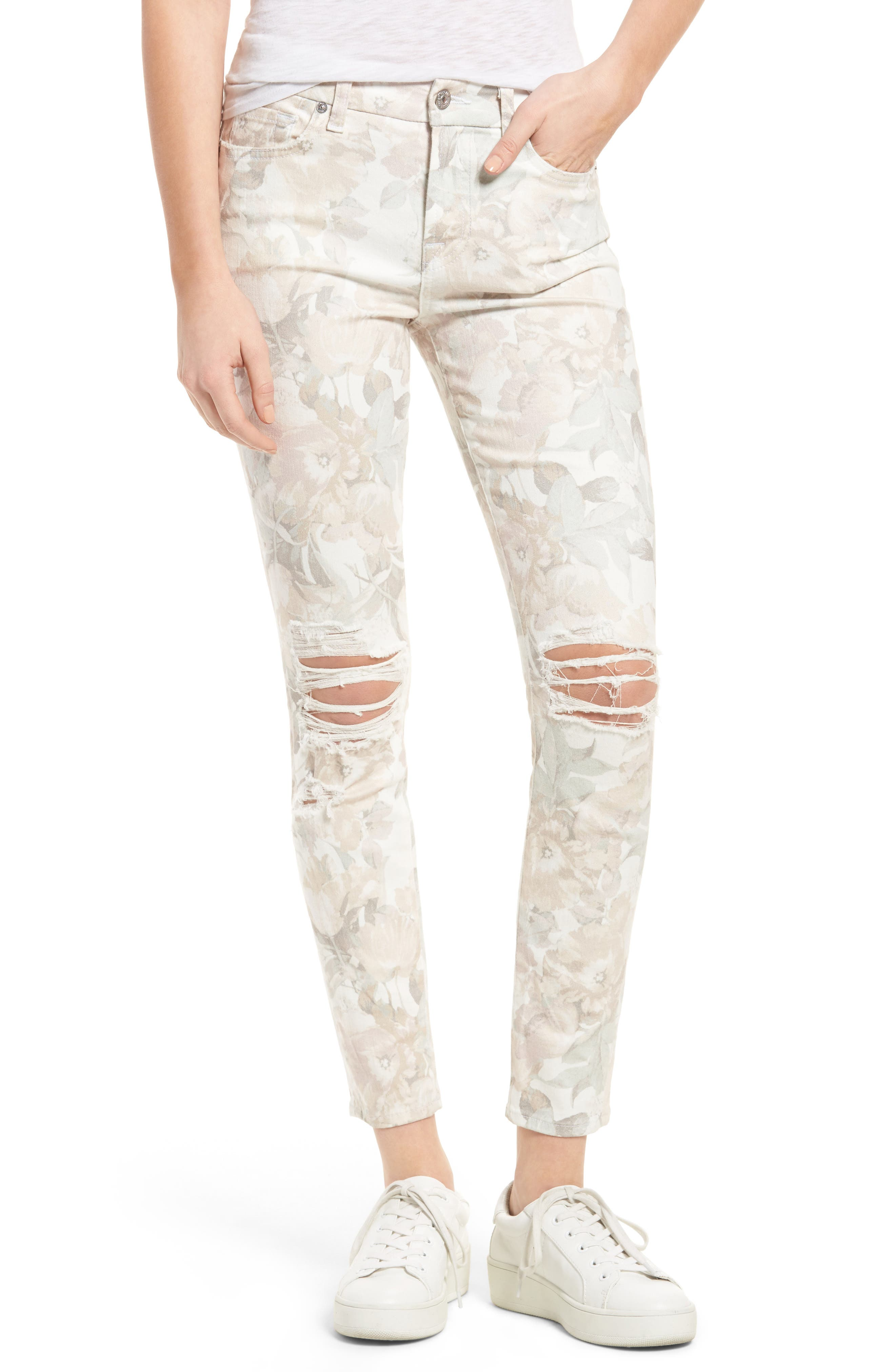 Alternate Image 1 Selected - 7 For All Mankind® Ankle Skinny Jeans (Sydney Garden)