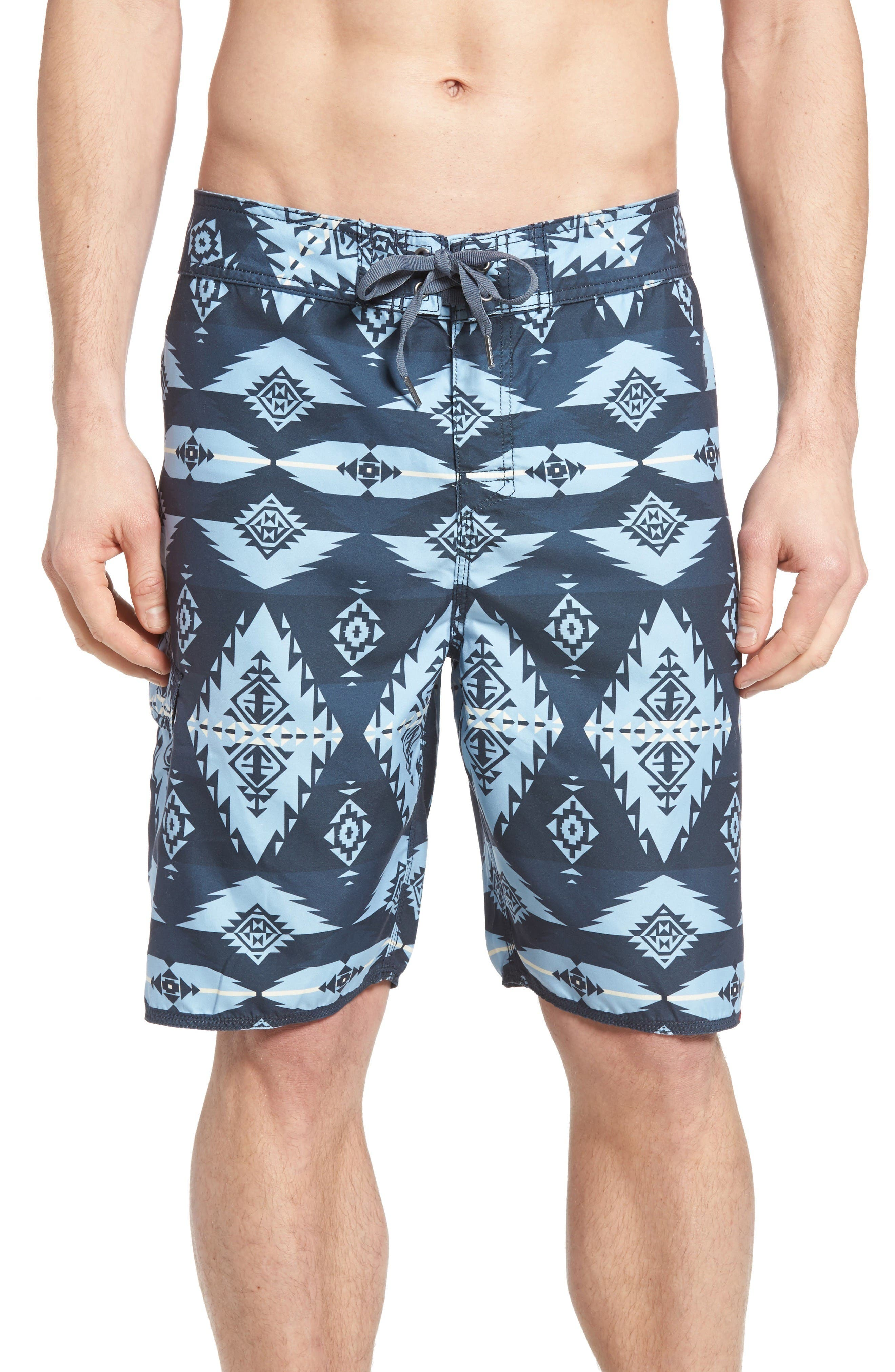 Main Image - True Grit Blue River Board Shorts