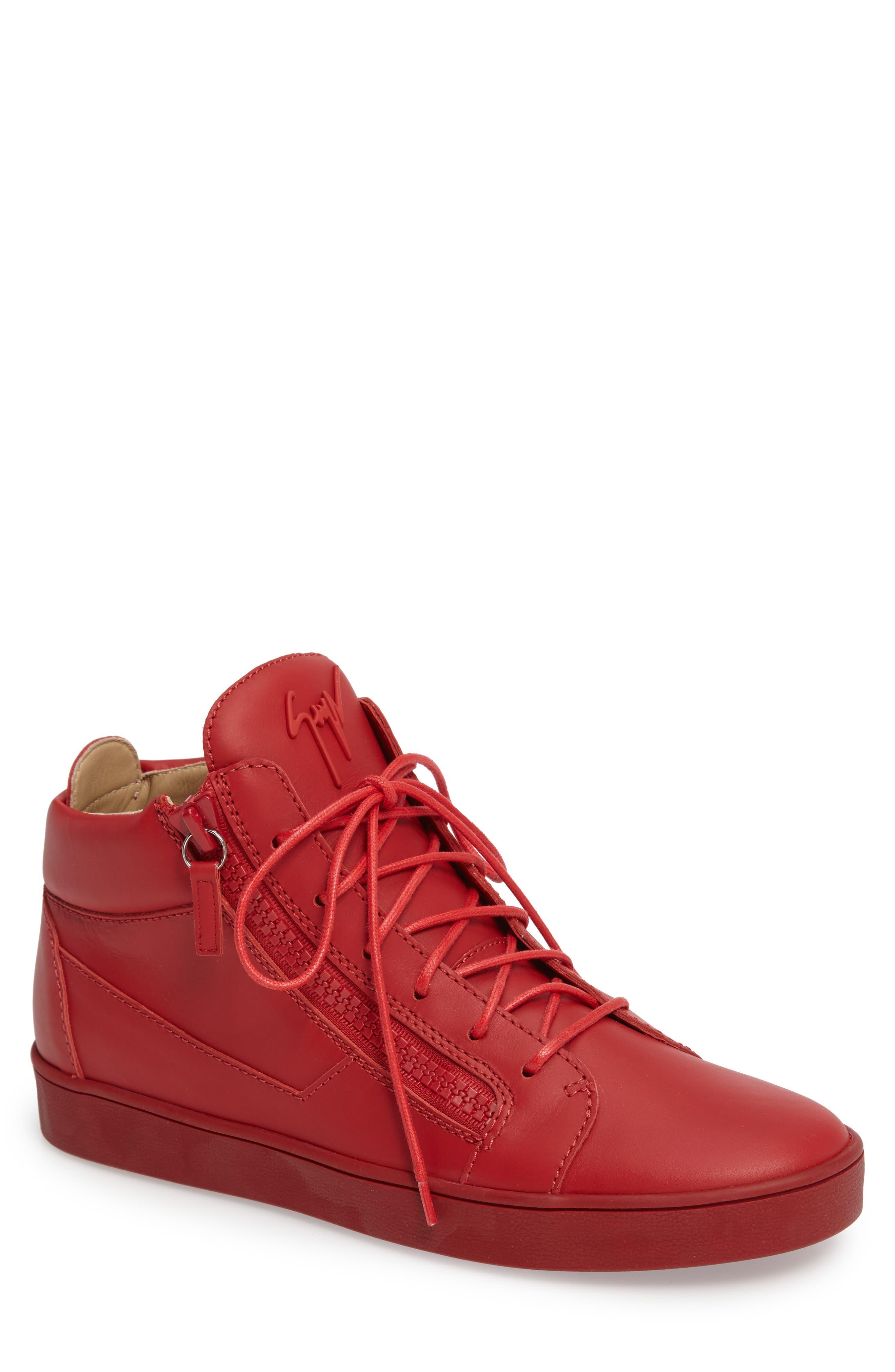 GIUSEPPE ZANOTTI Side Zip Mid Top Sneaker