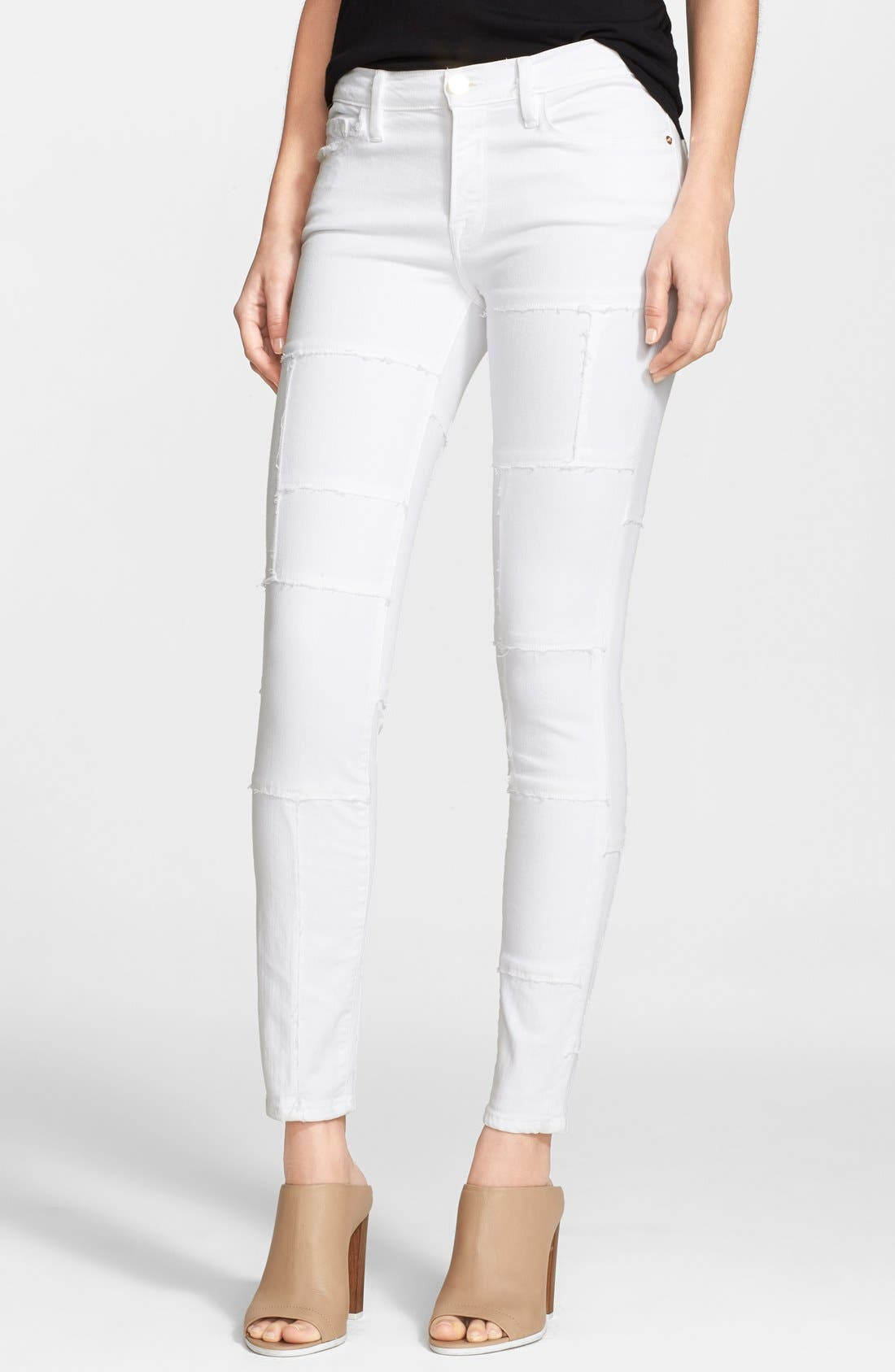 Alternate Image 1 Selected - Frame Denim 'Le Skinny Panel' Skinny Jeans (Blanc)