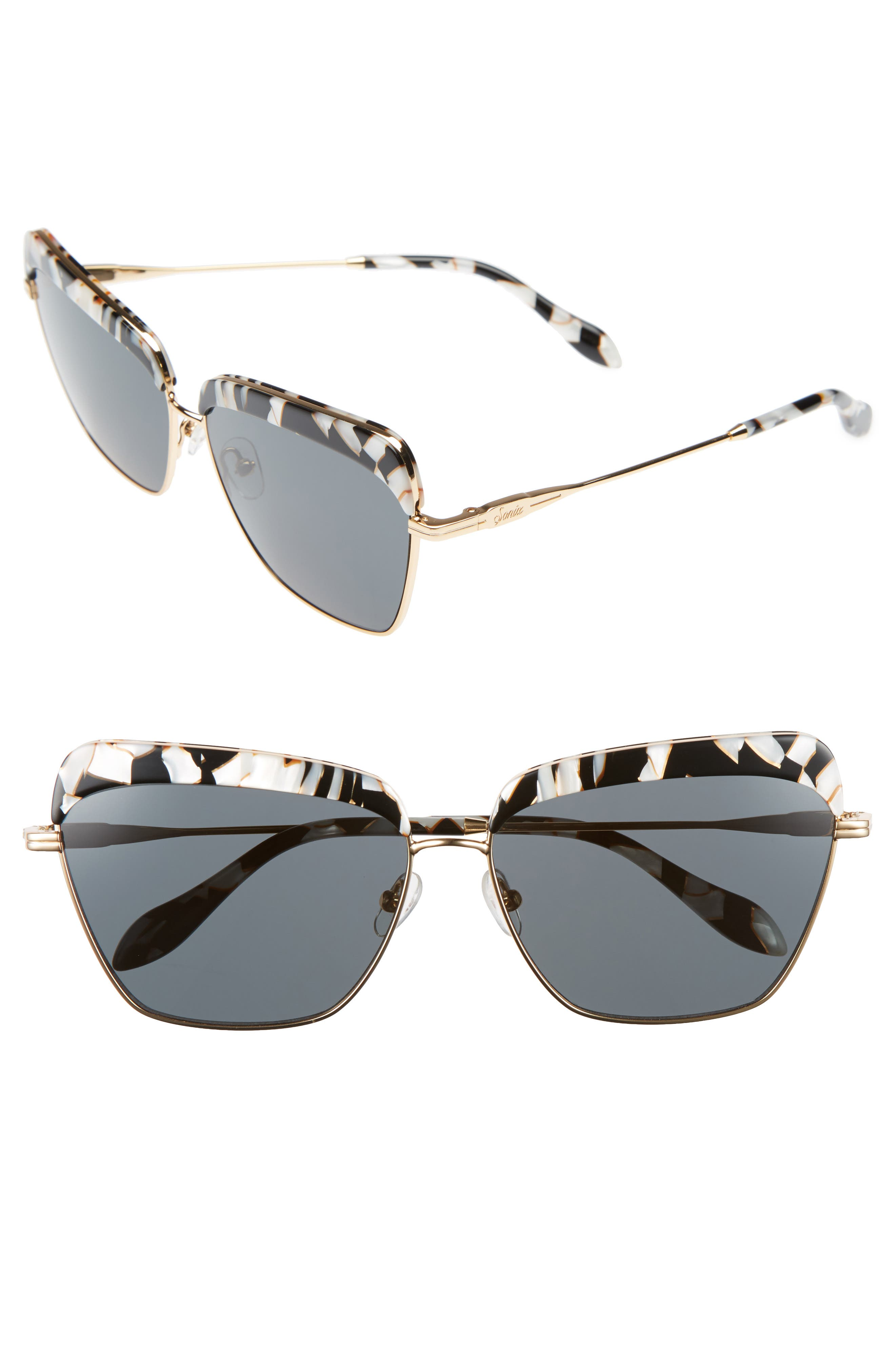 Sonix Highland 61mm Square Sunglasses