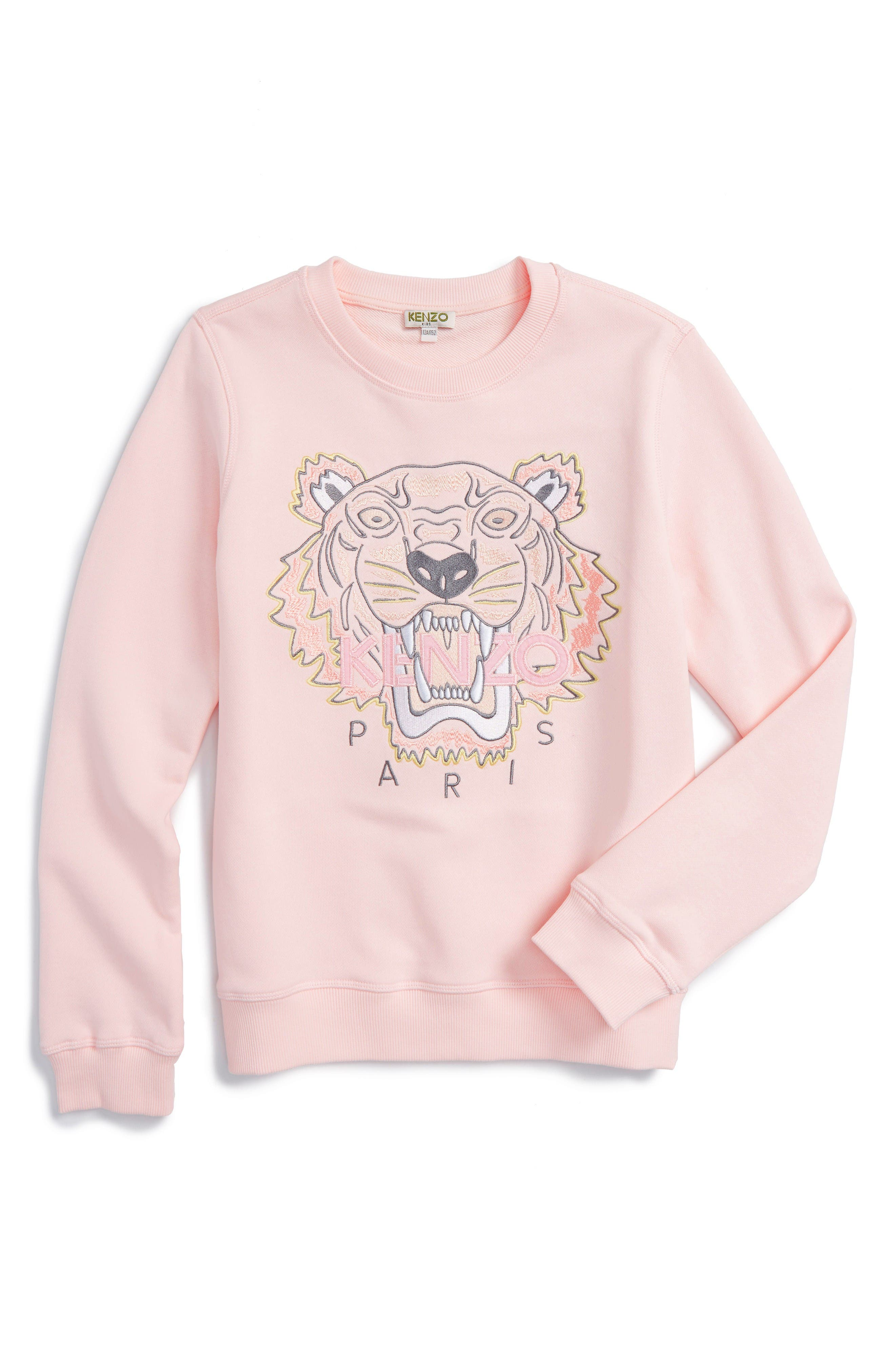 KENZO Logo Sweatshirt (Toddler Girls, Little Girls & Big Girls)