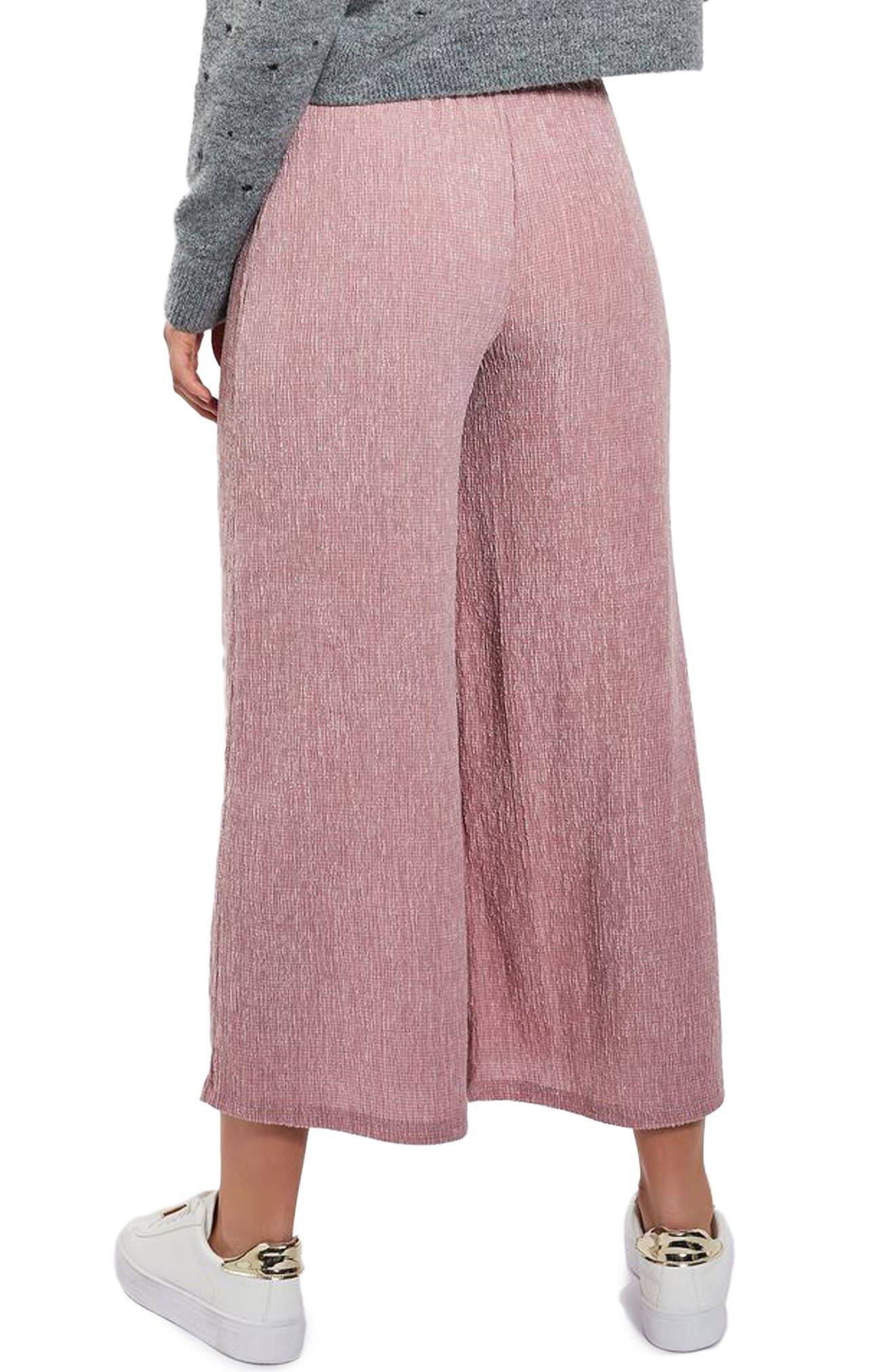 Alternate Image 3  - Topshop Textured Trousers