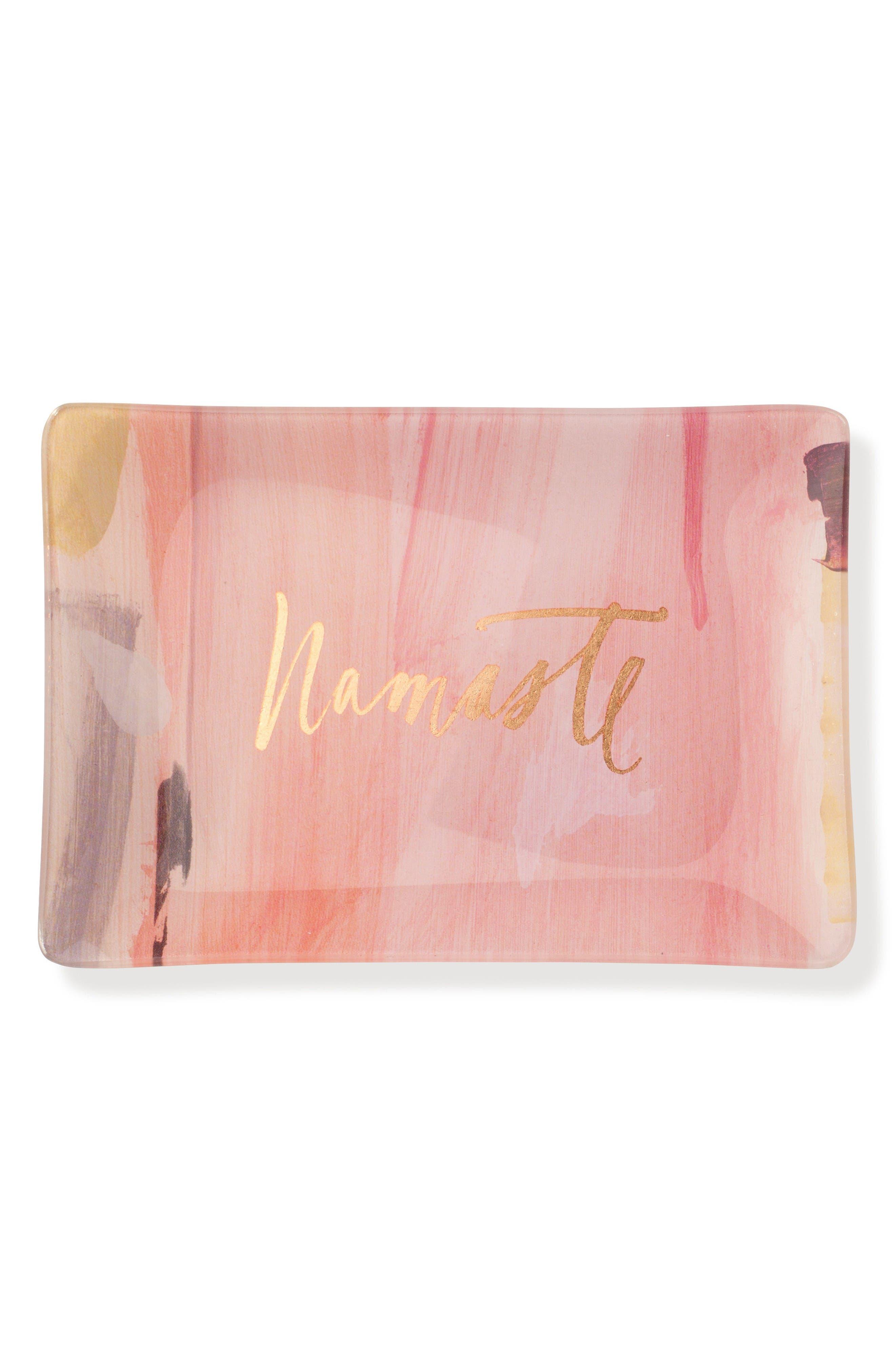 Main Image - Fringe Studio Brush Namaste Glass Trinket Tray