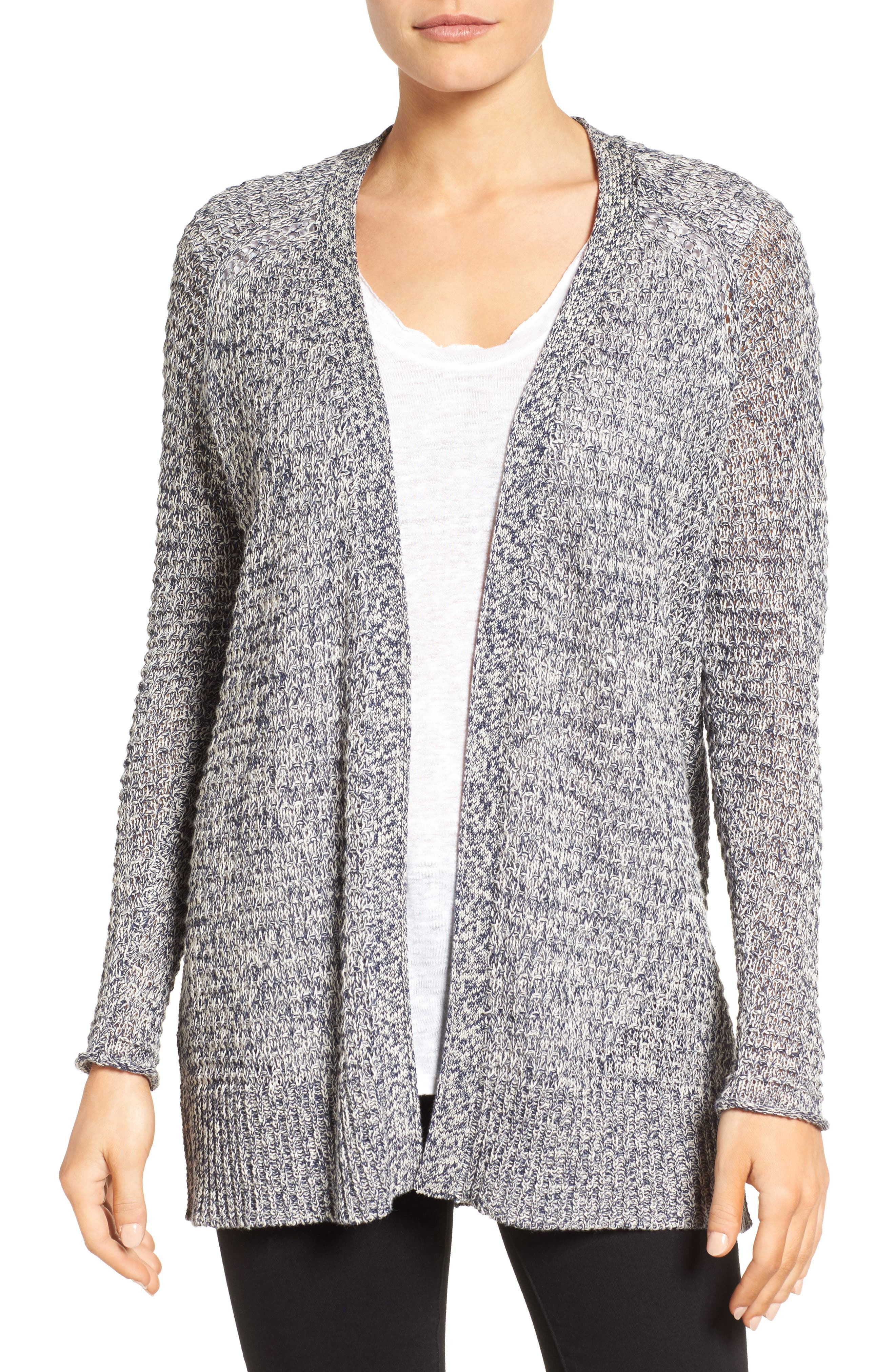 Caslon® Textured Cardigan (Regular & Petite)