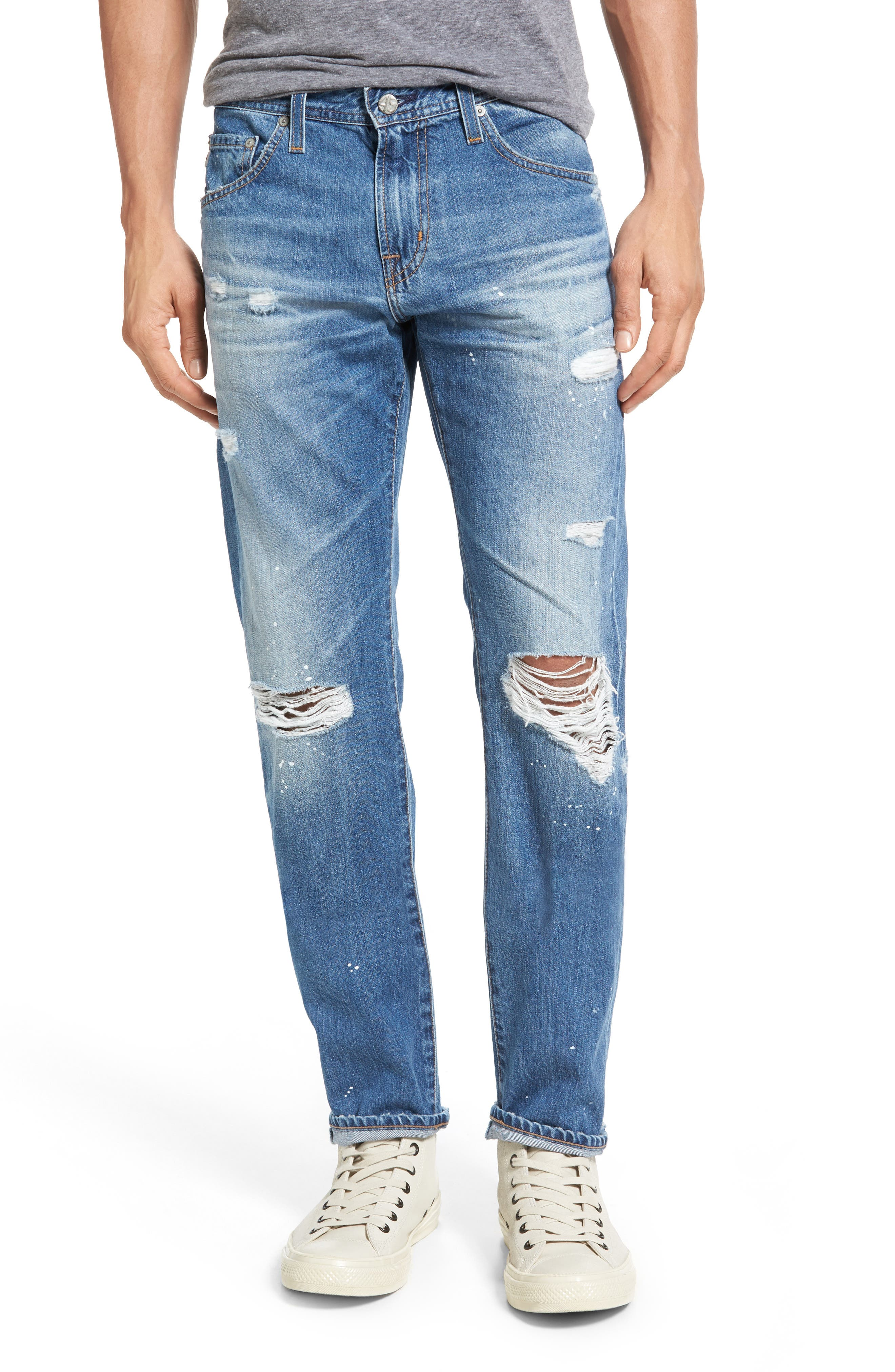 Main Image - AG Tellis Slim Fit Jeans (22 Years Melville)