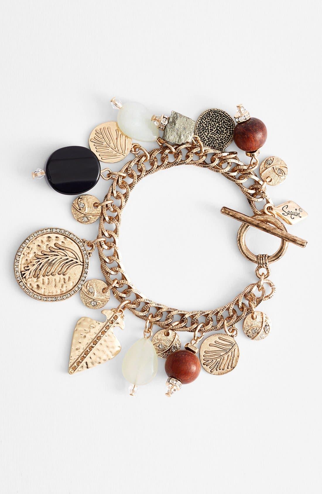Main Image - Sequin 'Sealife' Charm Bracelet
