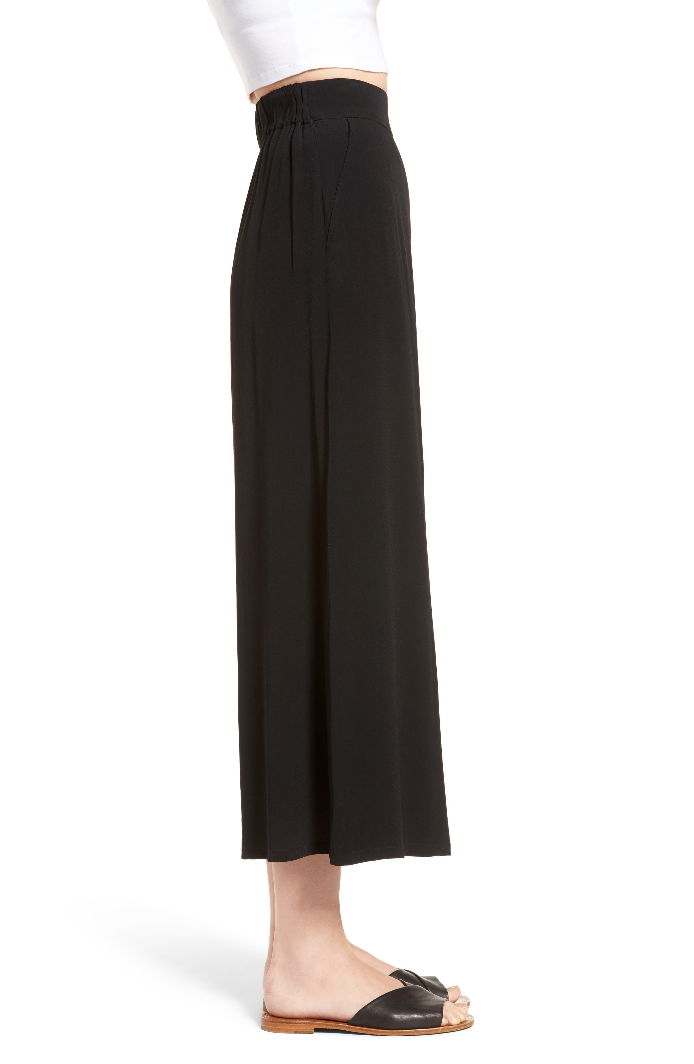 Alternate Image 3  - Leith High Waist Crop Wide Leg Pants