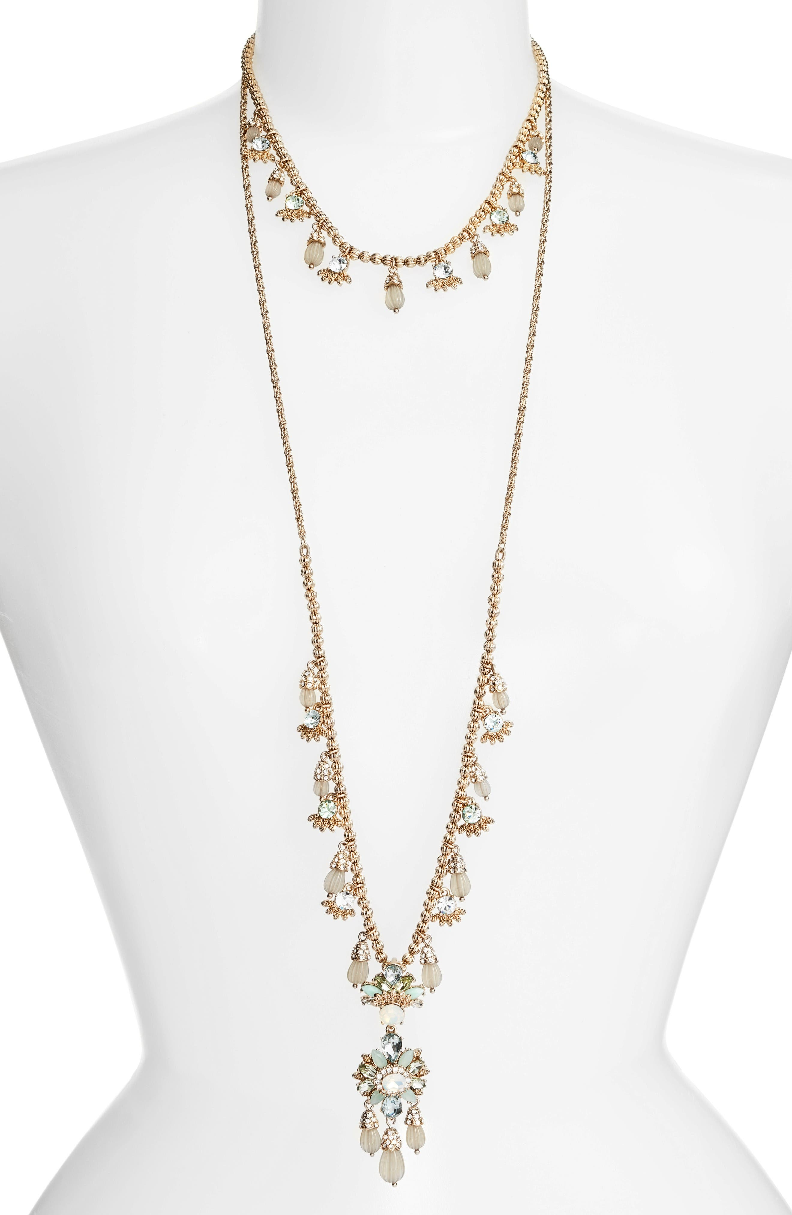 MARCHESA Sheer Bliss Set of 2 Layering Necklaces