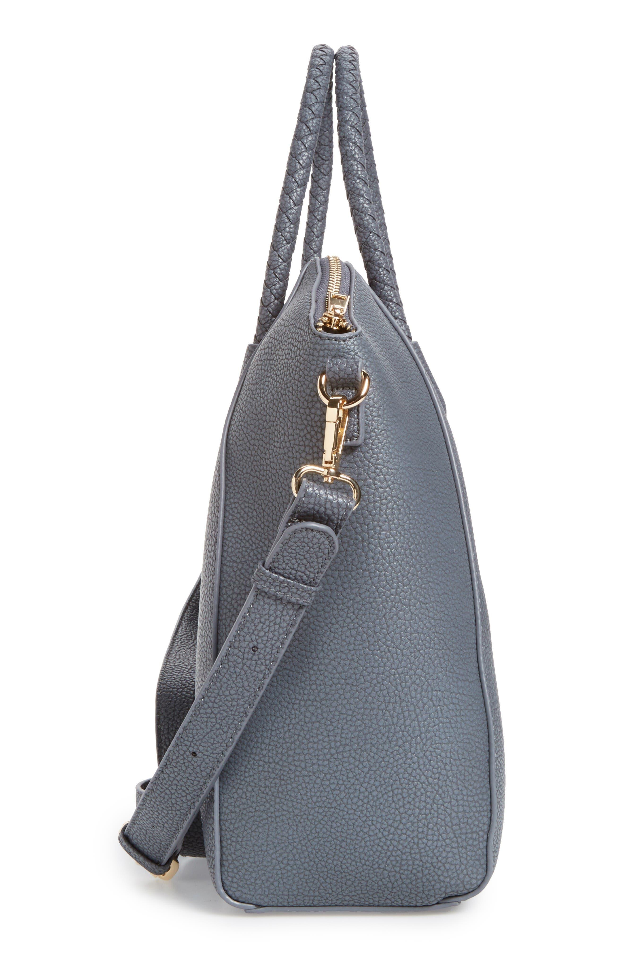 Alternate Image 5  - Sole Society Giada Braided Faux Leather Satchel