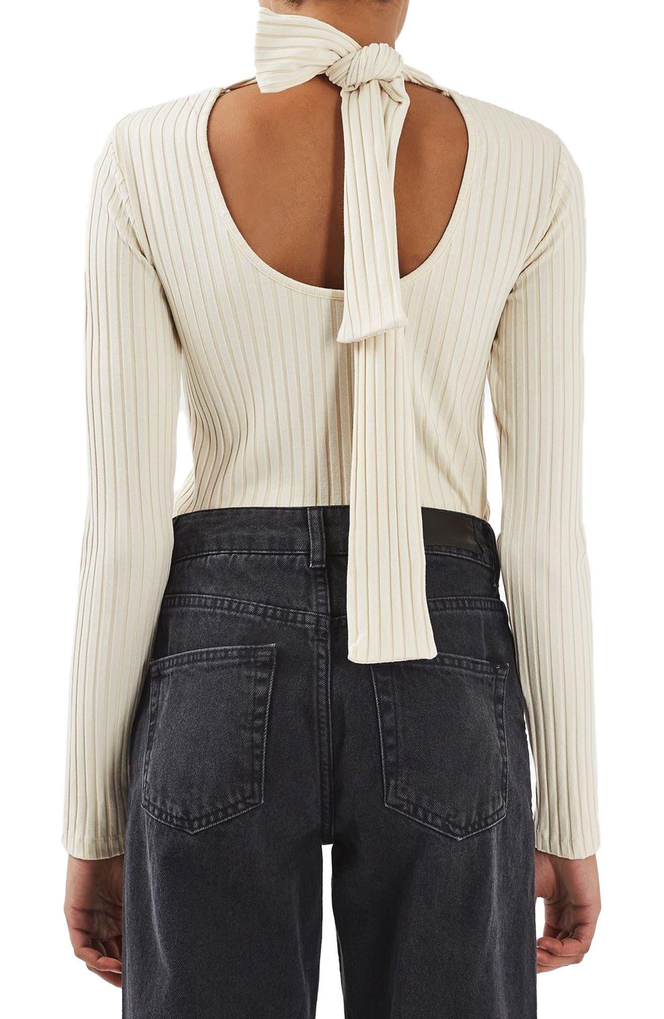 Alternate Image 3  - Topshop Boutique Tie Back Sweater
