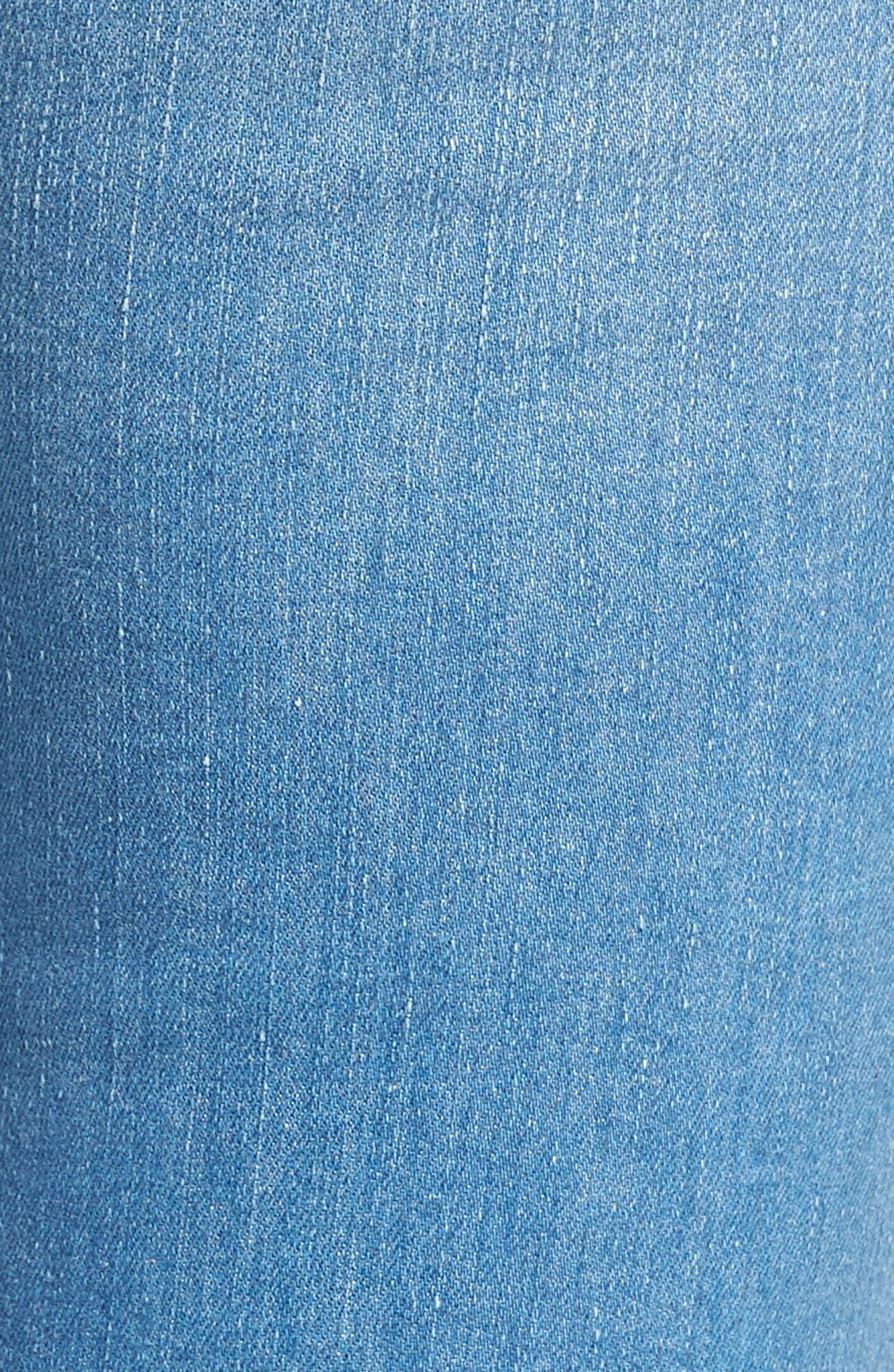Alternate Image 4  - Madewell High Rise Skinny Jeans (Hank Wash)