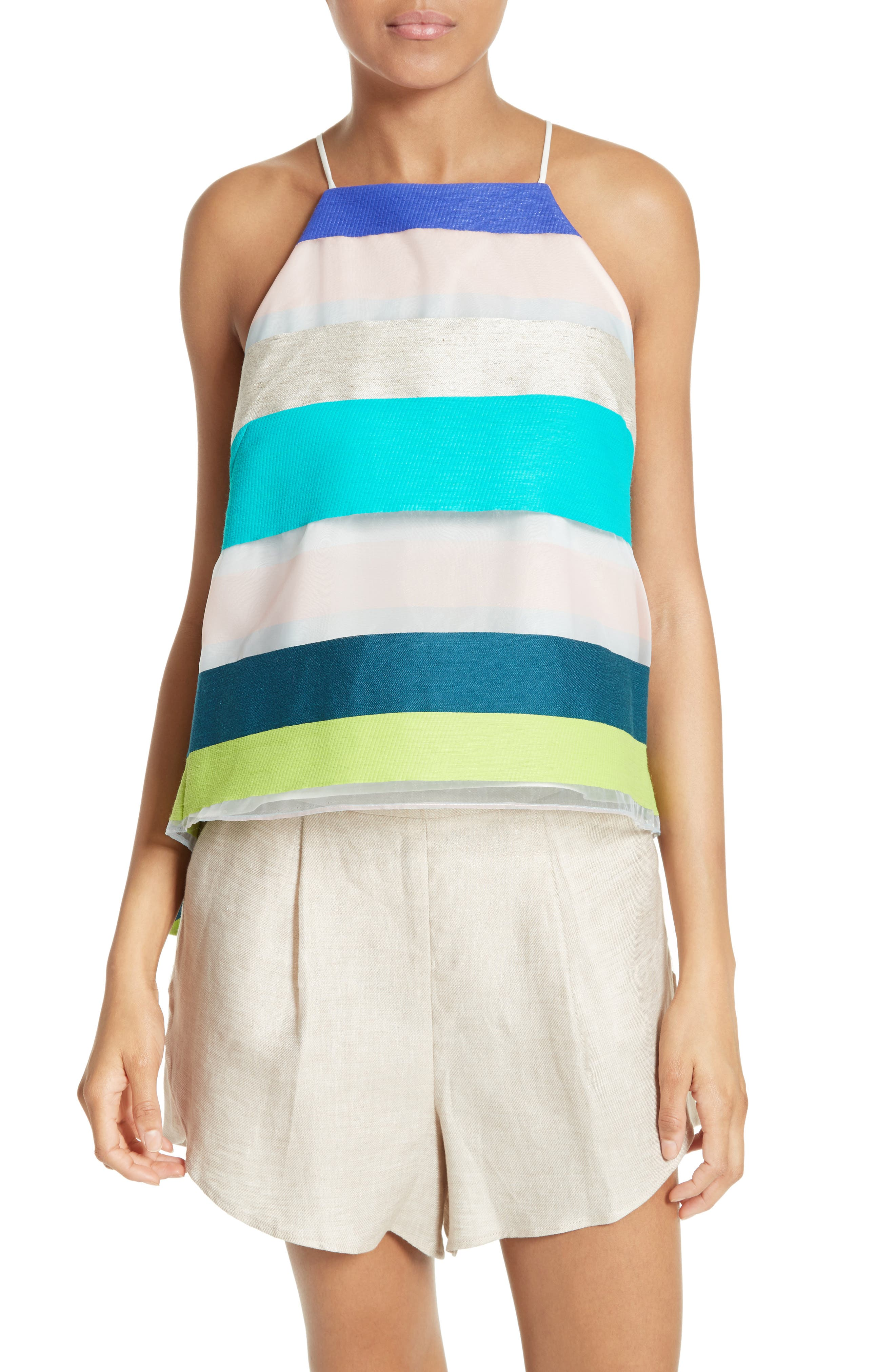 Milly Stripe Trapeze Camisole