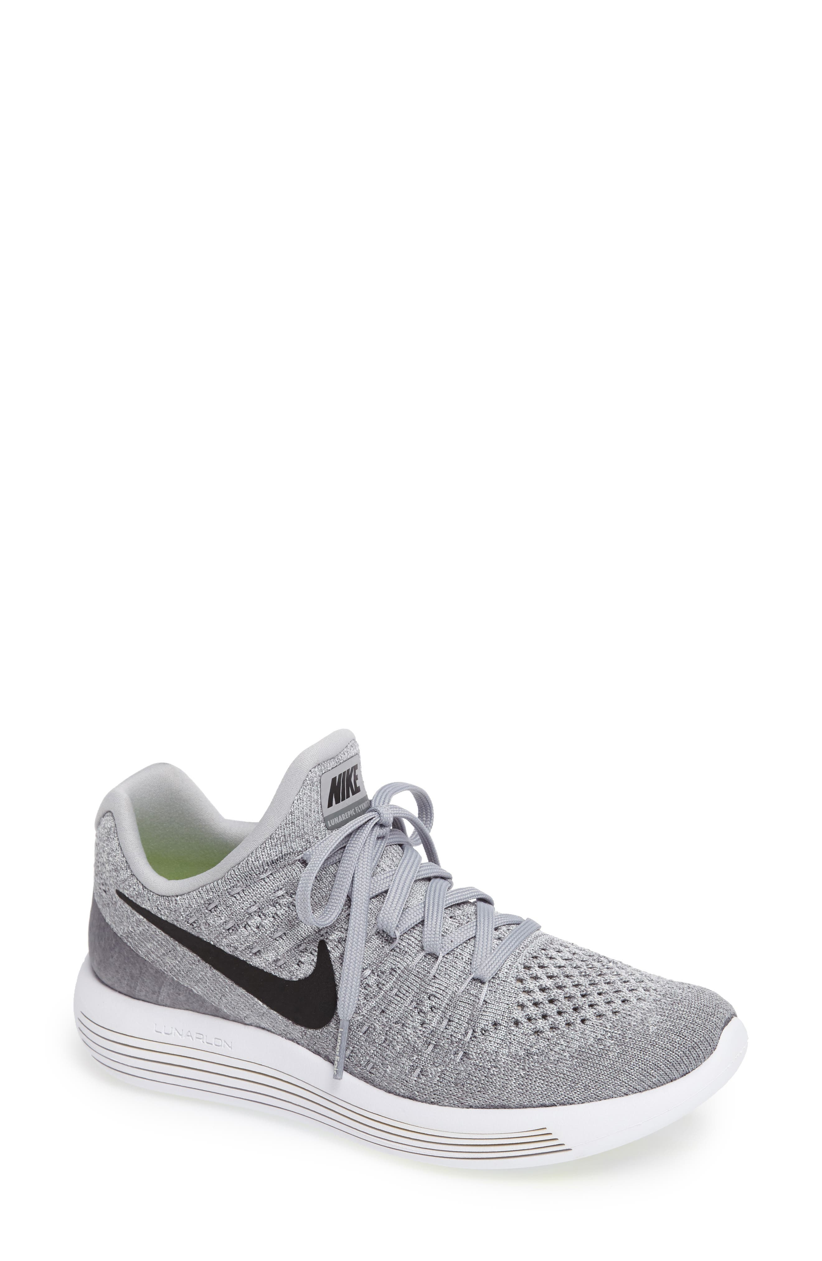 Alternate Image 1 Selected - Nike LunarEpic Low Flyknit 2 Running Shoe (Women)
