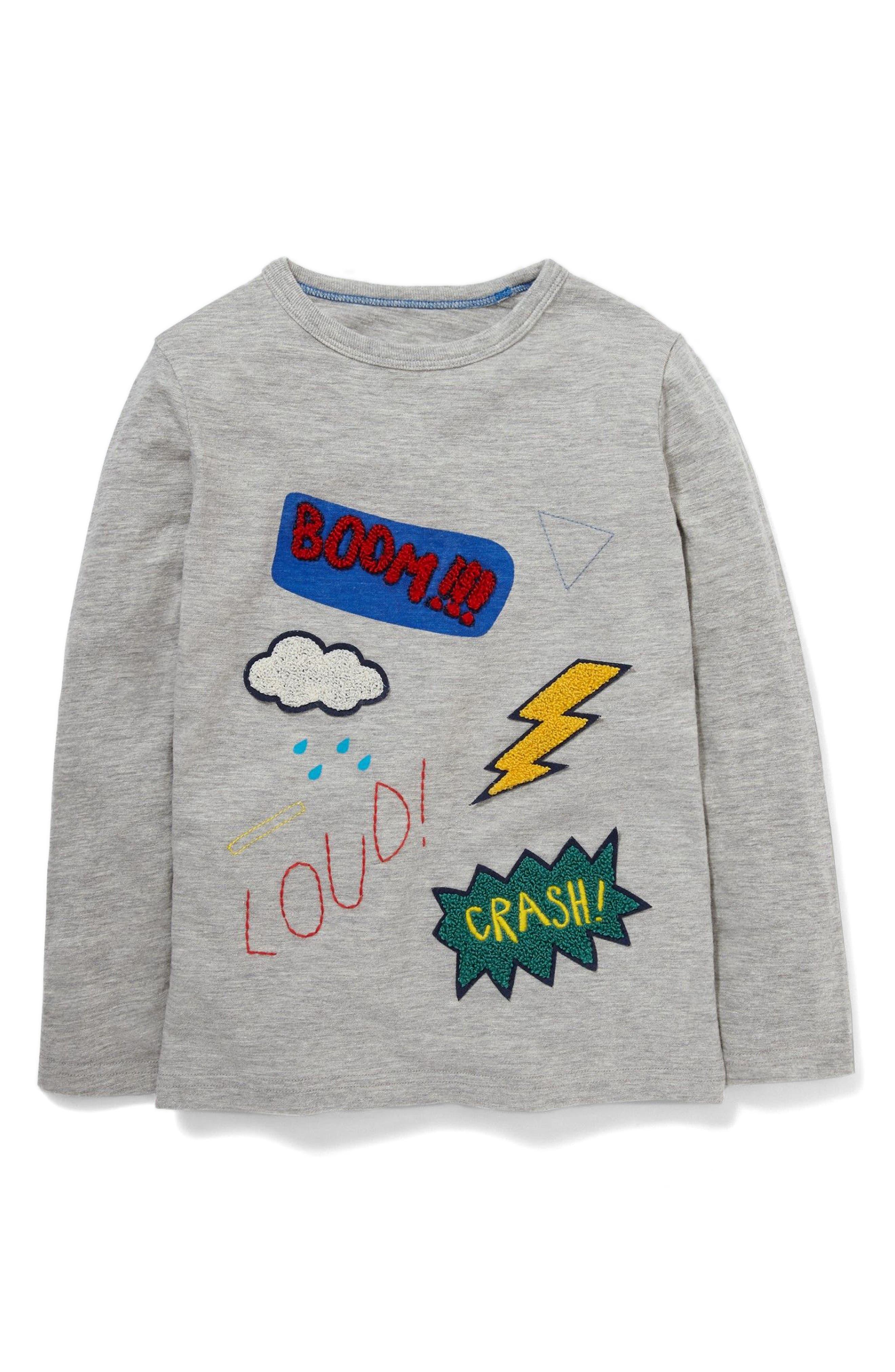Mini Boden Comic Book Appliqué T-Shirt (Toddler Boys, Little Boys & Big Boys)