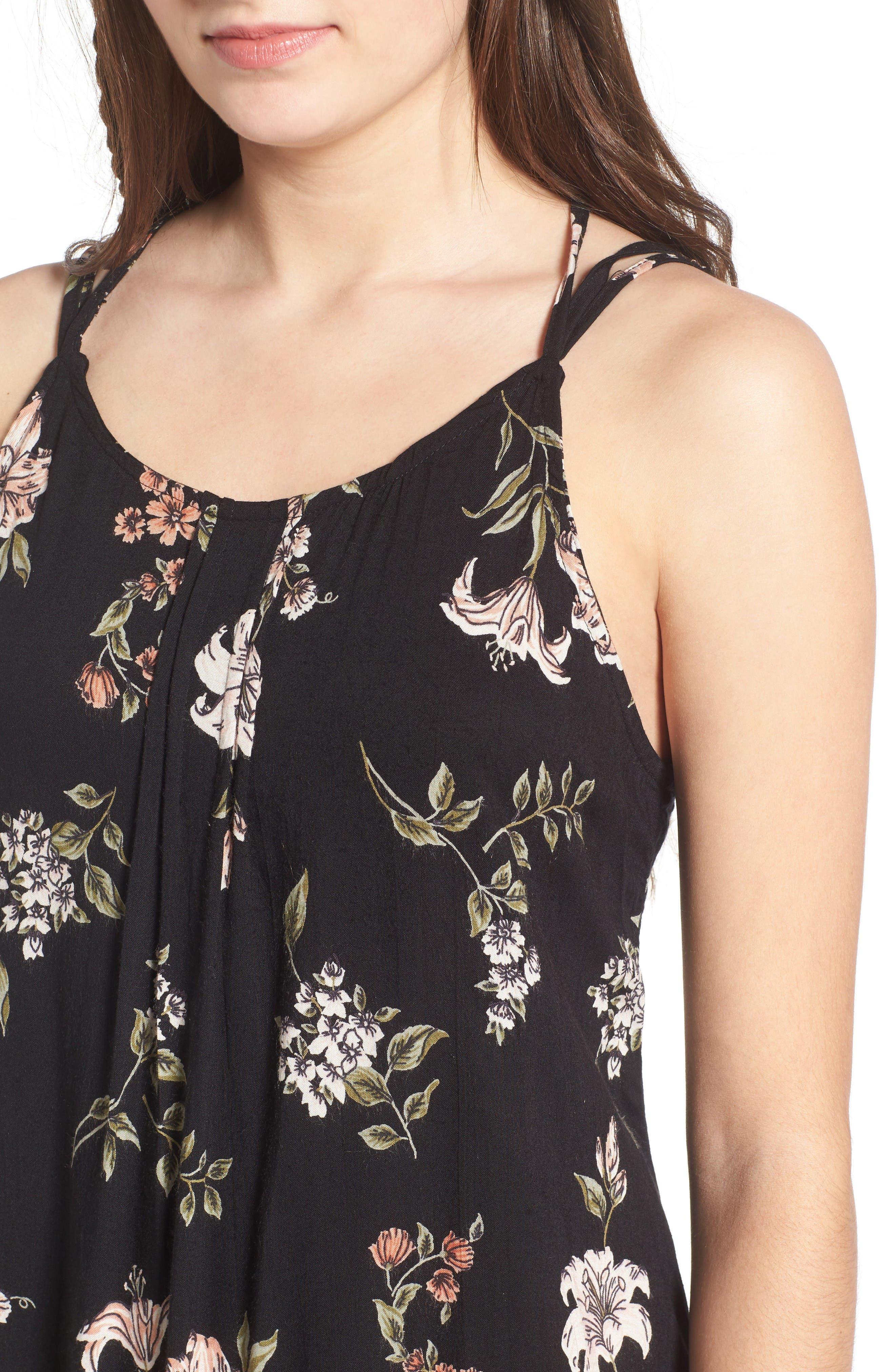 Alternate Image 4  - Angie Floral Print Strappy Back Dress